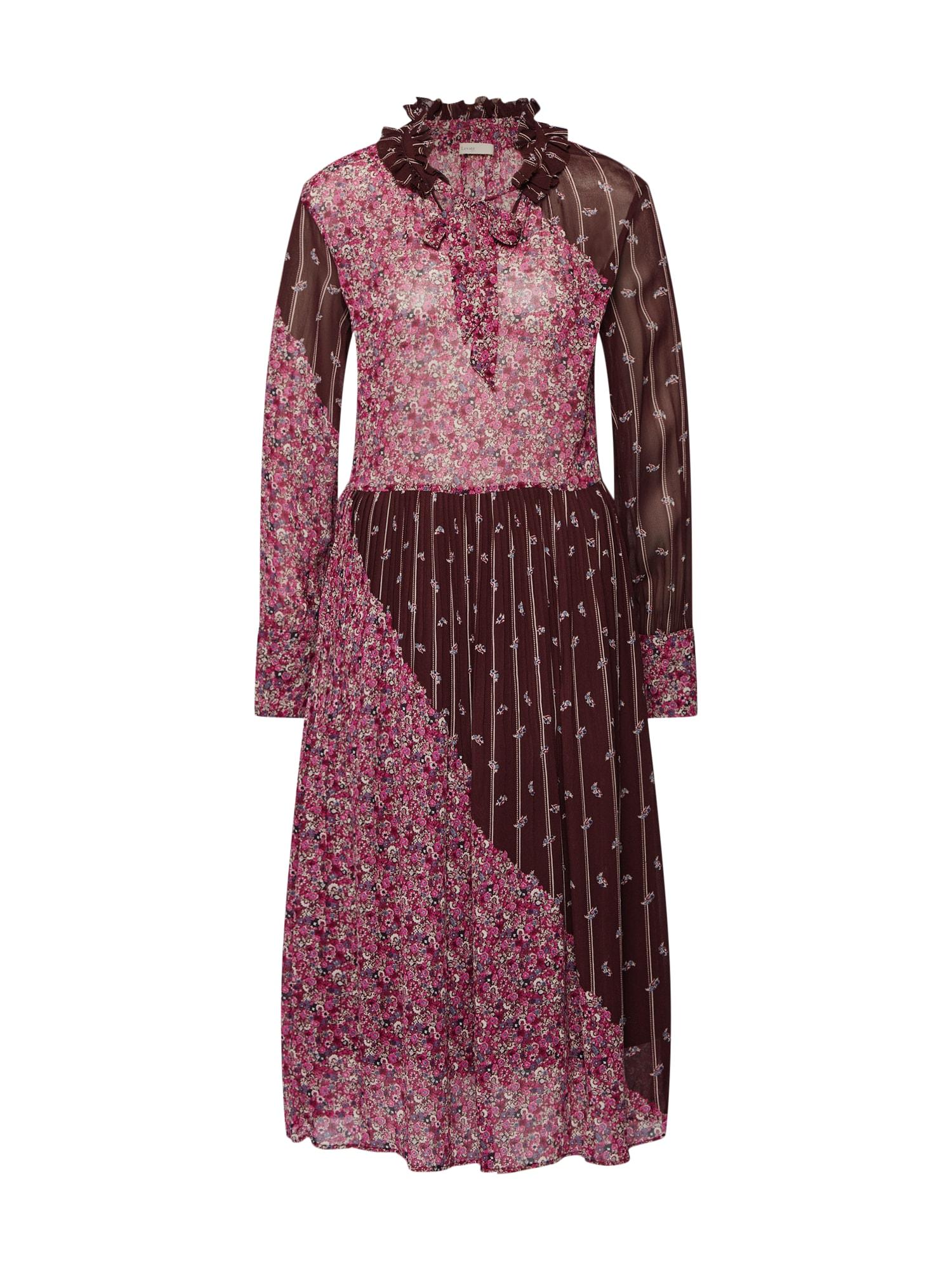 Košilové šaty LR-CARIN 1 magenta bordó Levete Room