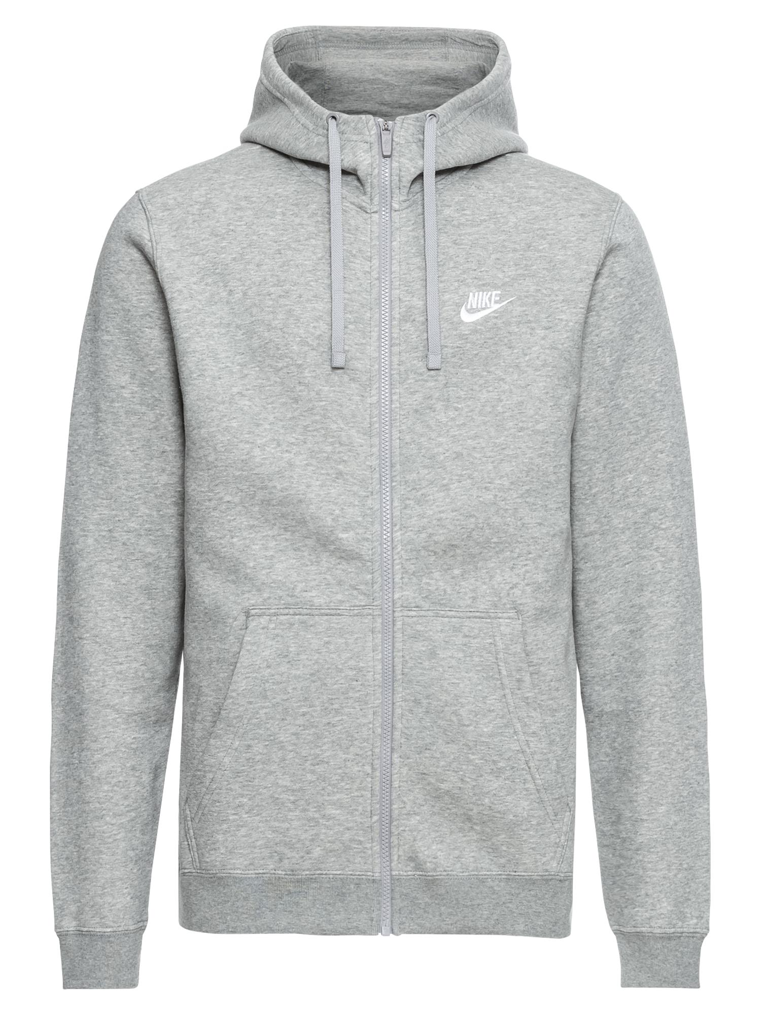 Mikina s kapucí šedá Nike Sportswear