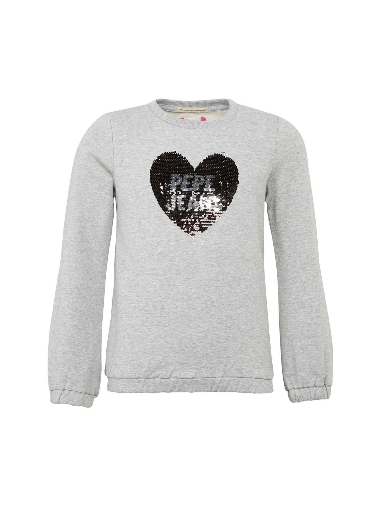 Pepe Jeans Meisjes Sweatshirt BELLA JR grijs zilver