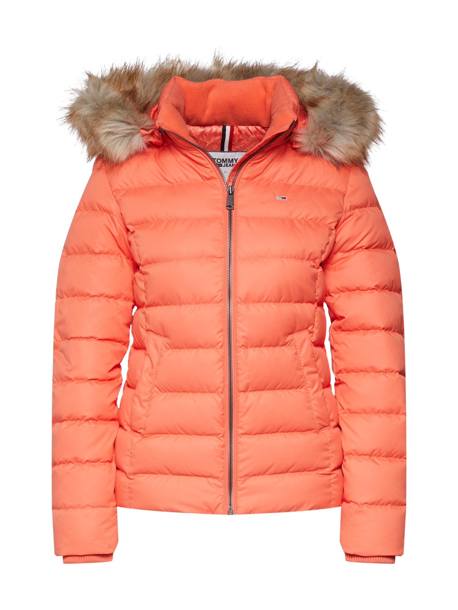 Zimní bunda korálová Tommy Jeans