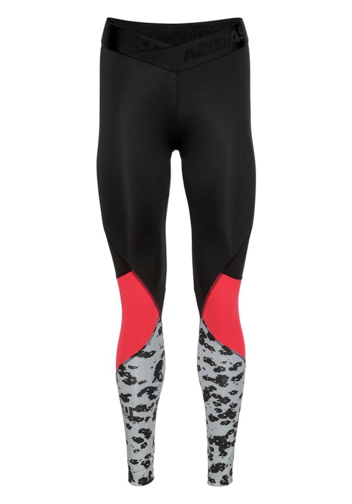 Sportovní kalhoty Alphaskin Sport Iteration světle červená černá bílá ADIDAS PERFORMANCE