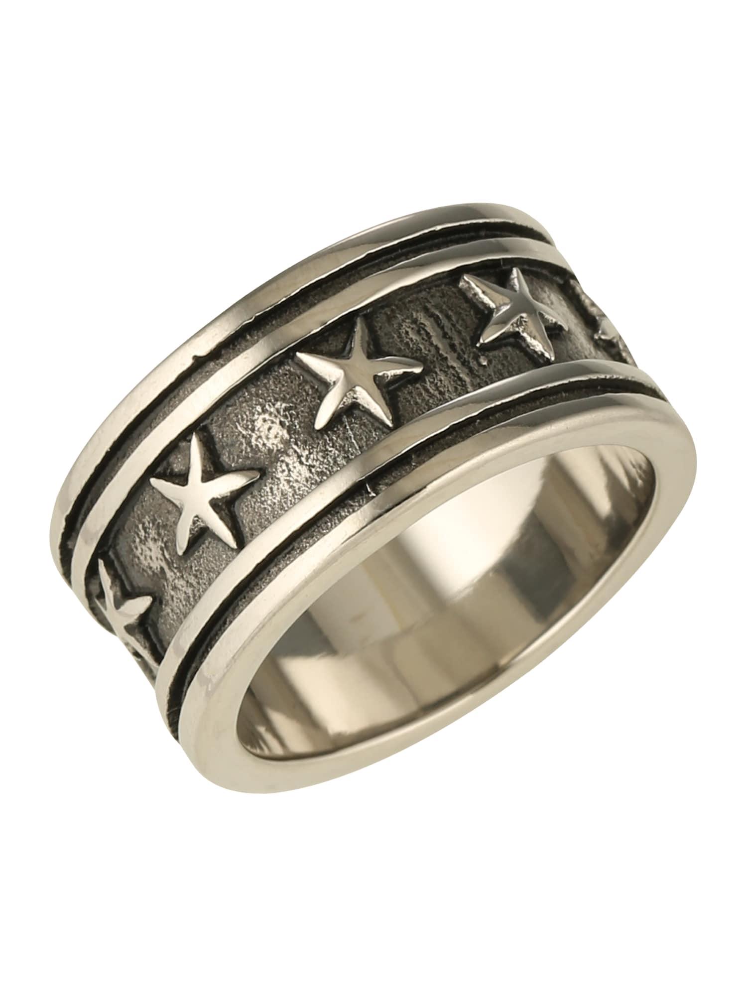 Prsten černá stříbrná ROYAL-EGO