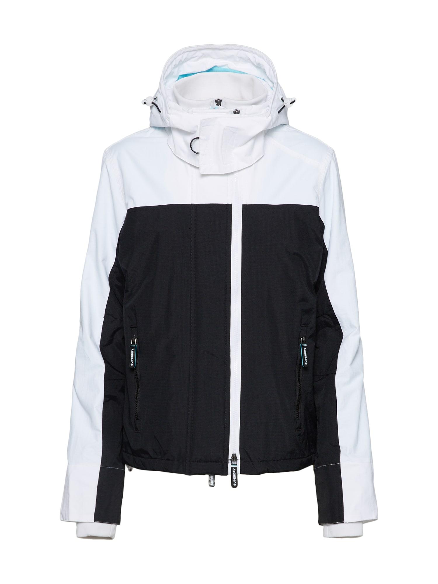 Funkční bunda aqua modrá černá bílá Superdry