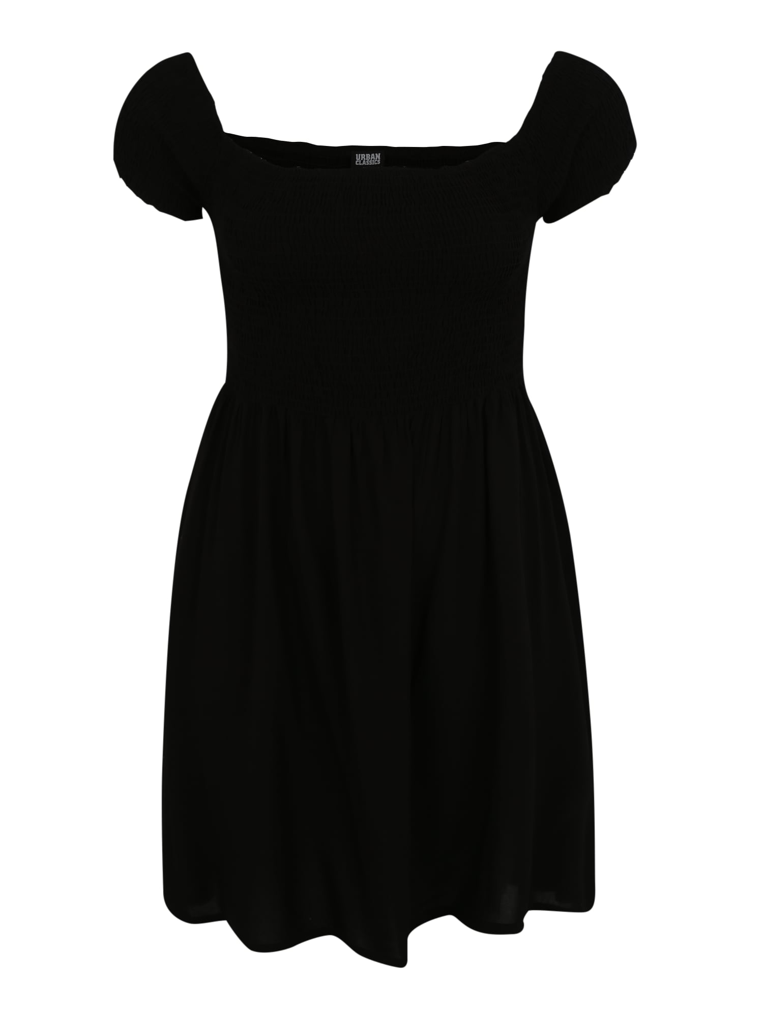 Šaty Smoked černá Urban Classics Curvy