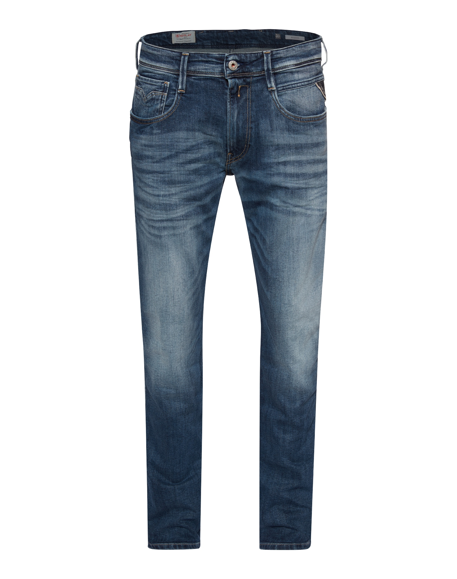 REPLAY Heren Jeans Anbass blue denim