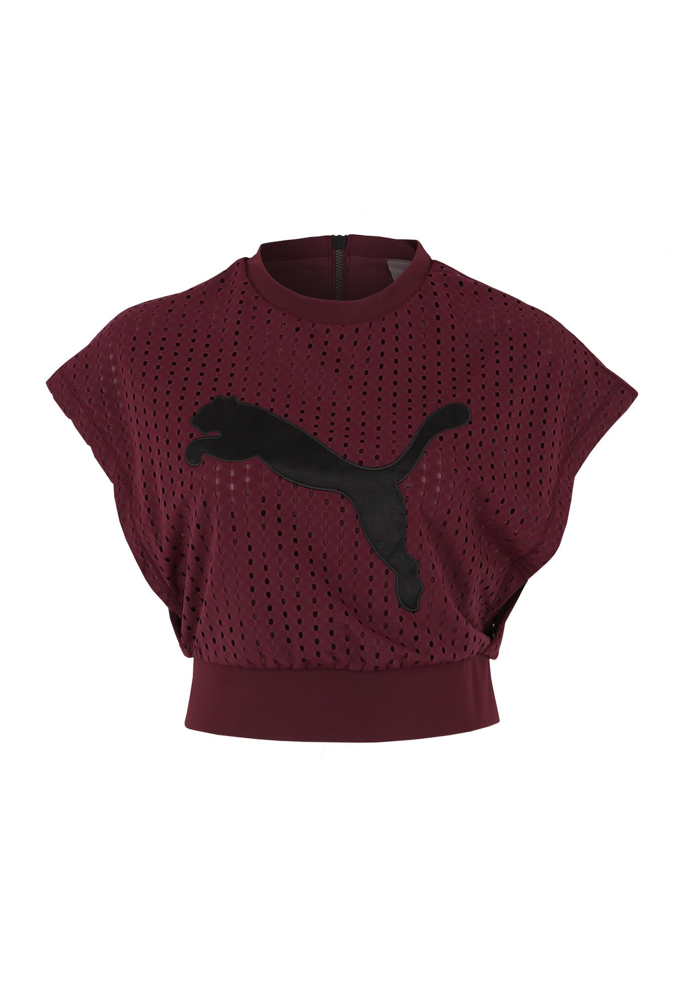 Funkční tričko Luxe Tee vínově červená černá PUMA