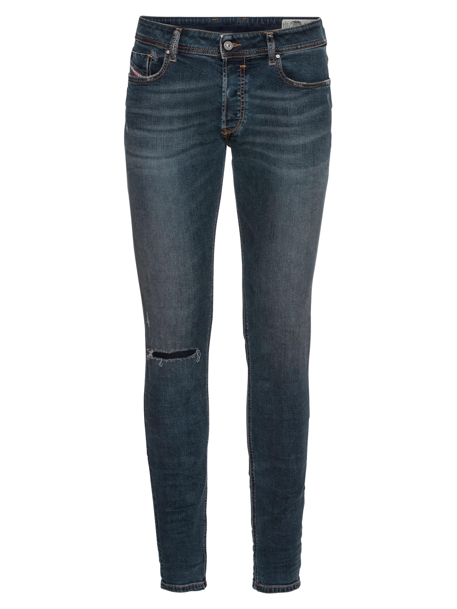 DIESEL Heren Jeans Sleenker Skinny Fit 886Z blauw denim