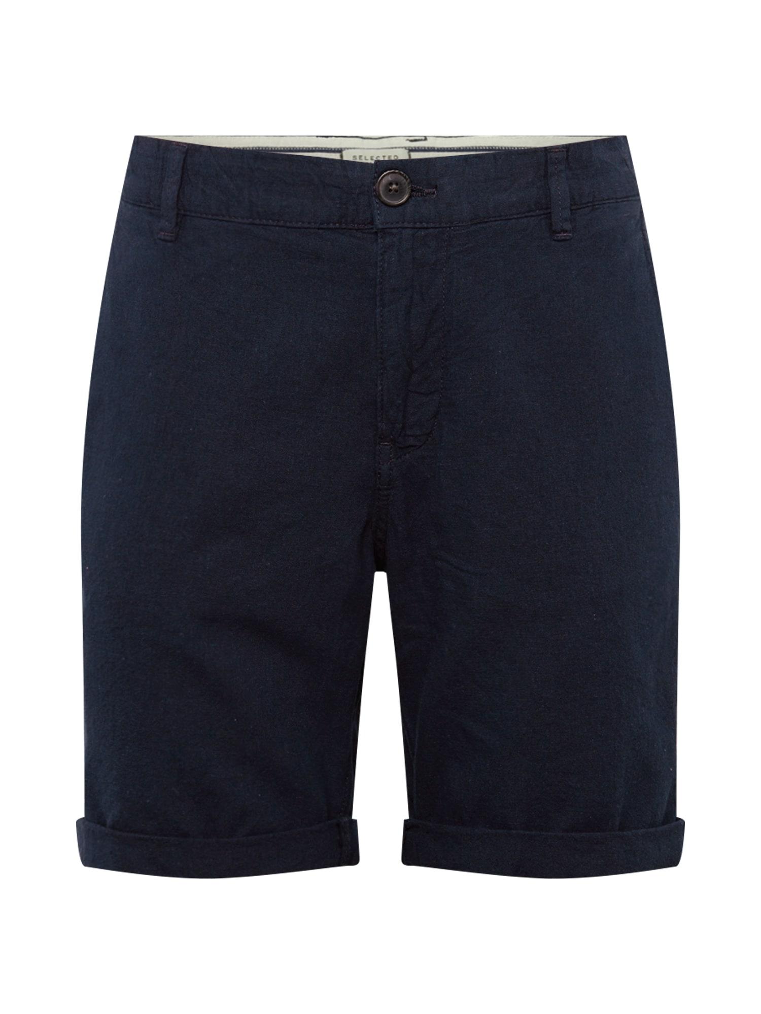 Chino kalhoty SLHStraight-Paris W tmavě modrá SELECTED HOMME