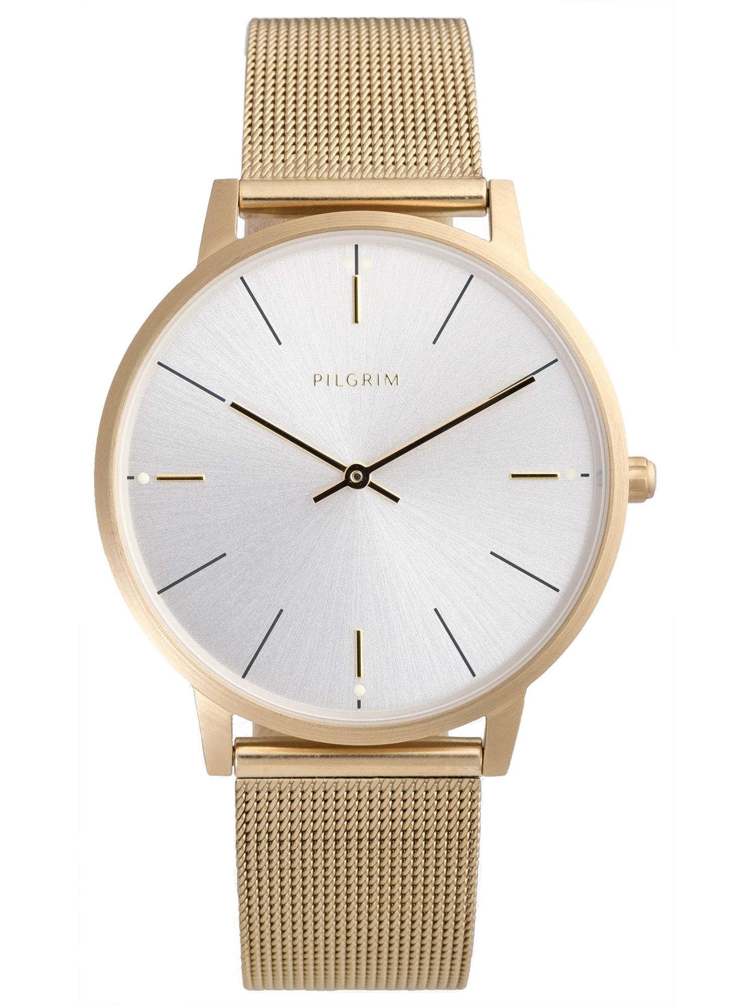 Analogové hodinky Aidon zlatá Pilgrim
