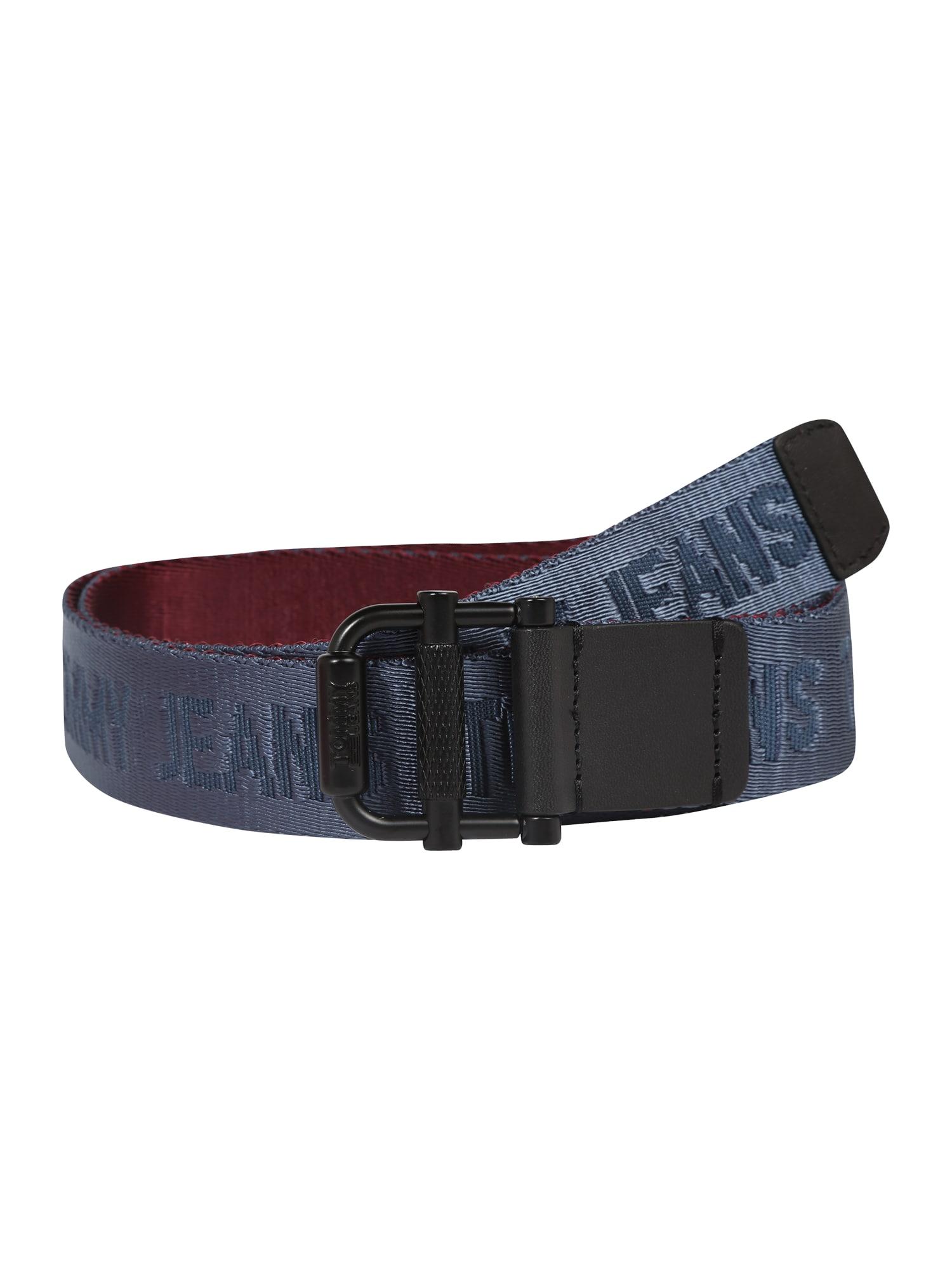 Opasek TJM ROLLER REV WEBBING BELT 3.5 tmavě modrá bordó Tommy Jeans