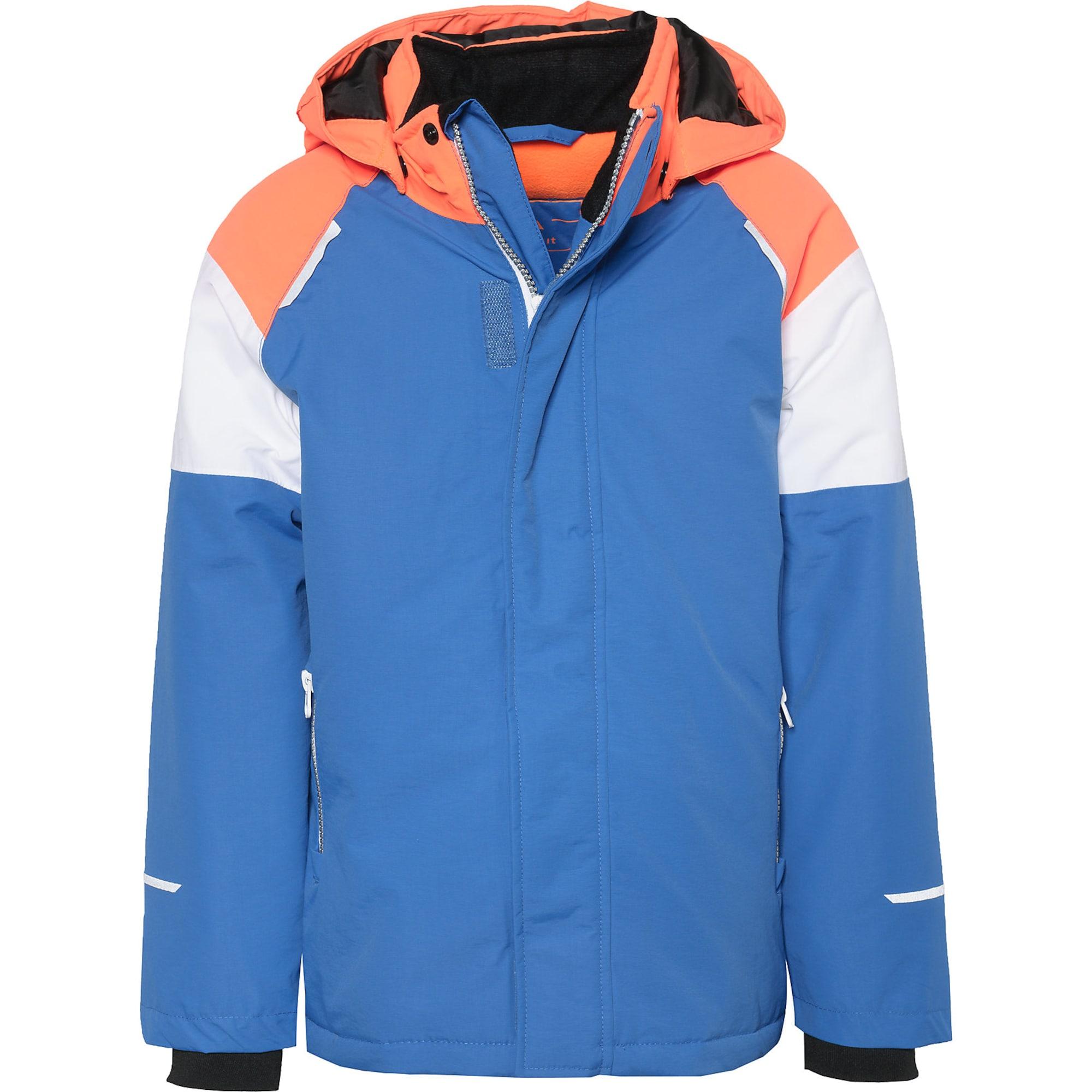 Funkční bunda Nkmsnow03 královská modrá oranžová bílá NAME IT