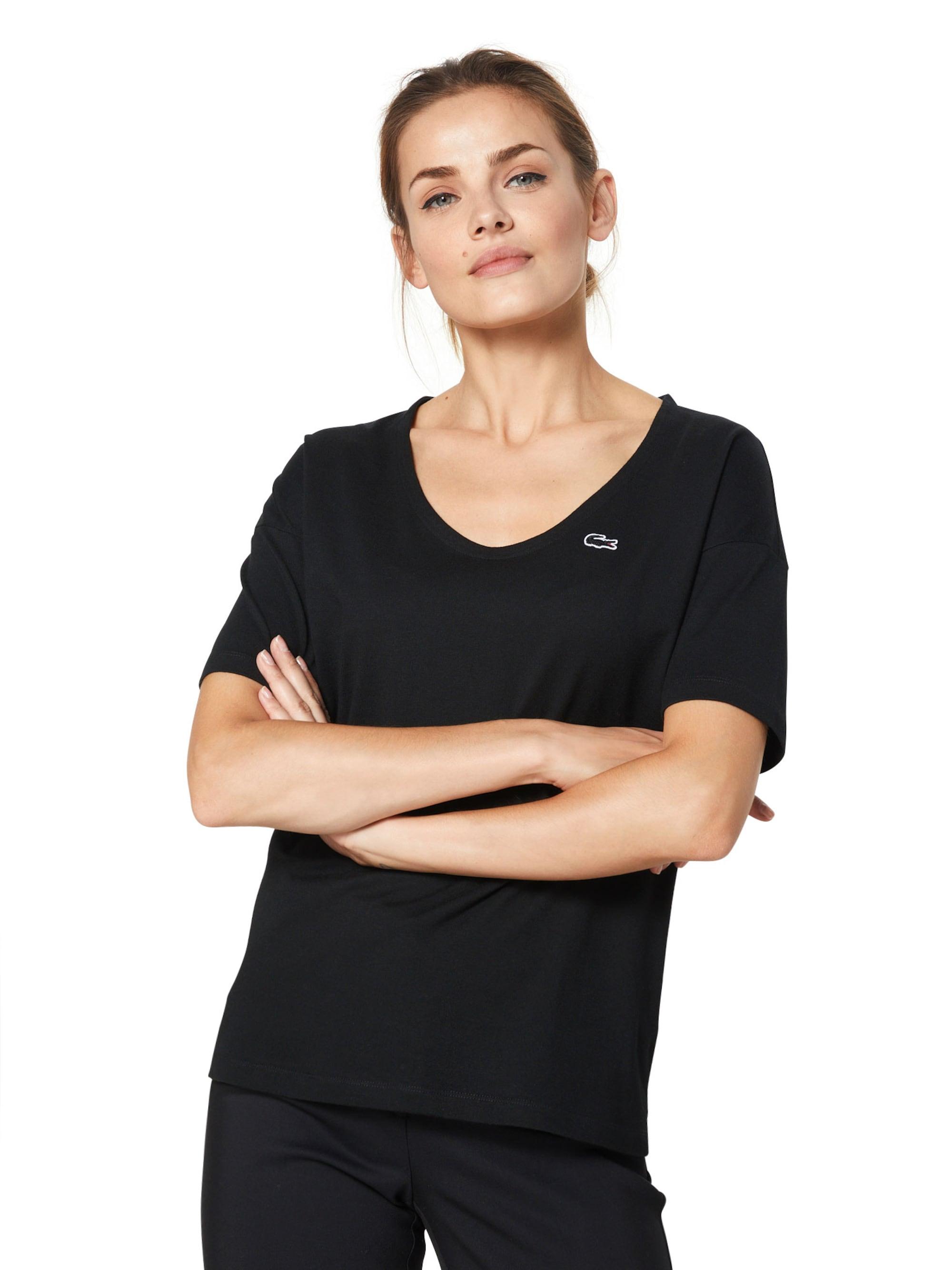 LACOSTE Koszulka  czarny