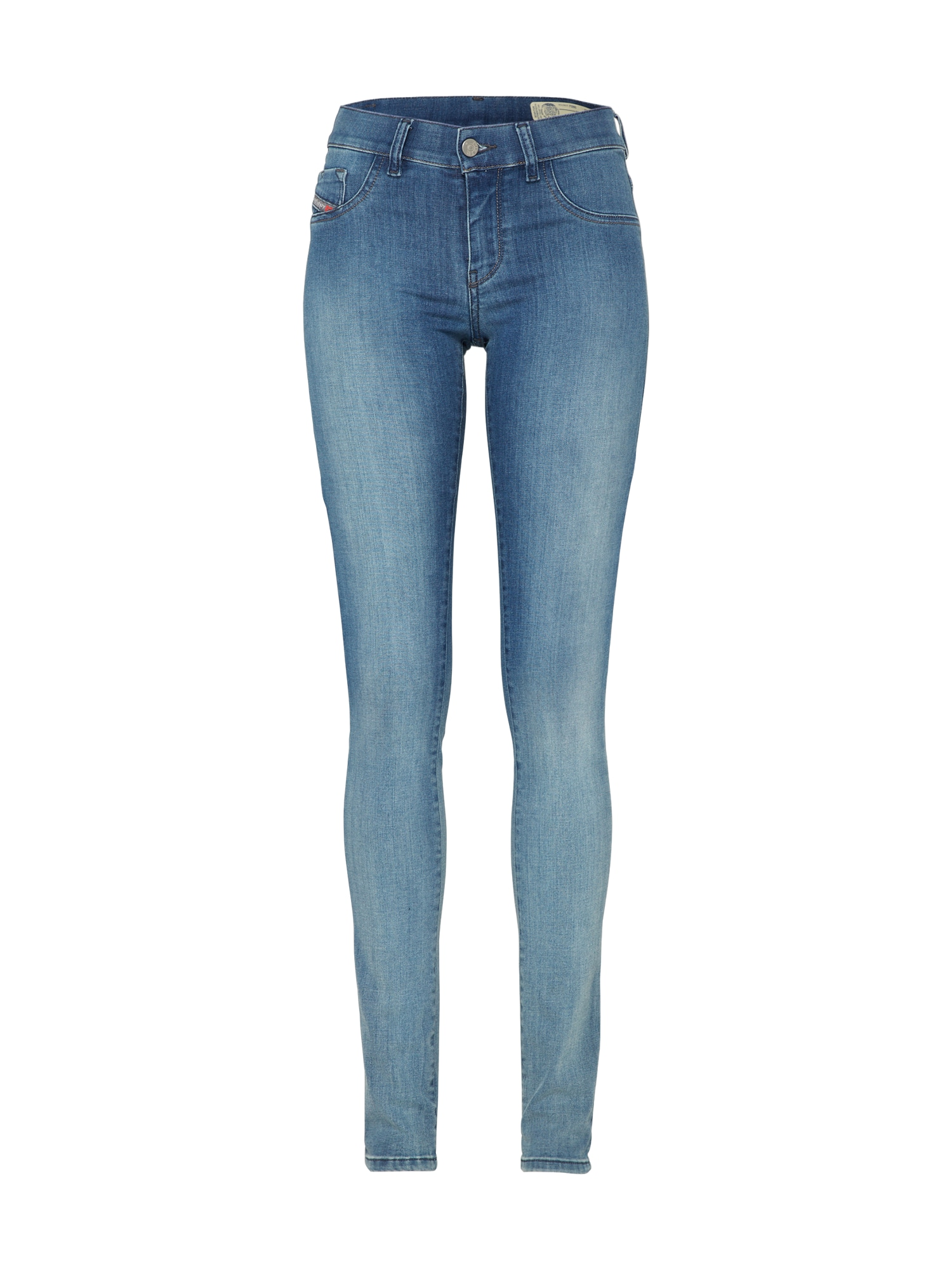 DIESEL Dames Jeans Livier Jeggings Skinny Fit 881B blue denim