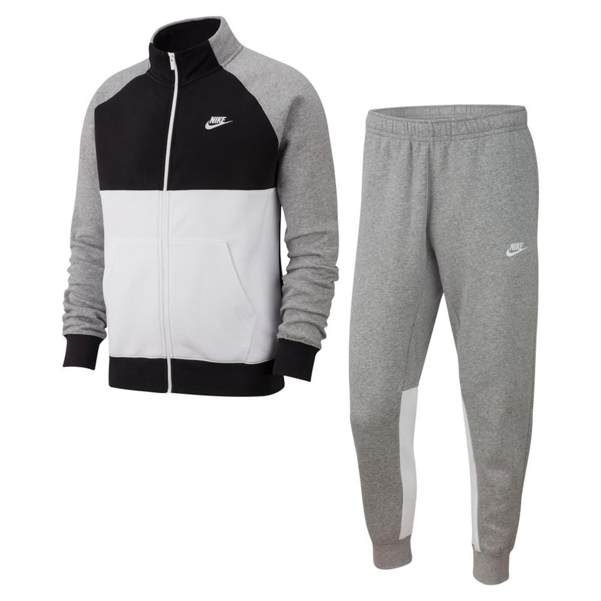 Nike Sportswear Házi ruha  fehér / világosszürke / fekete
