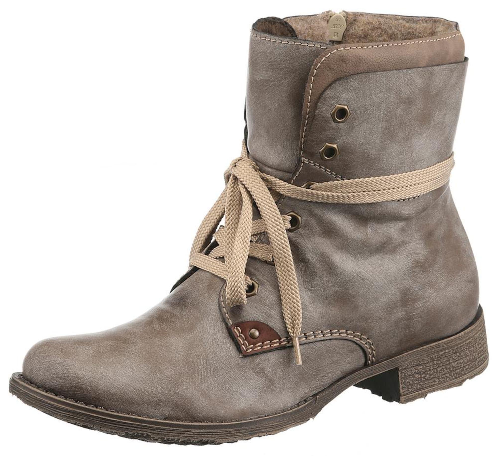 Schnürstiefeletten   Schuhe > Stiefel > Schnürstiefel   Taupe   RIEKER