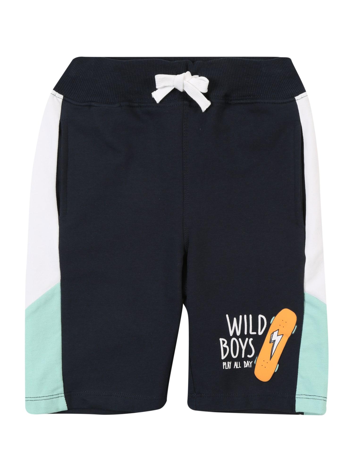 Kalhoty HUBLOCK námořnická modř bílá NAME IT
