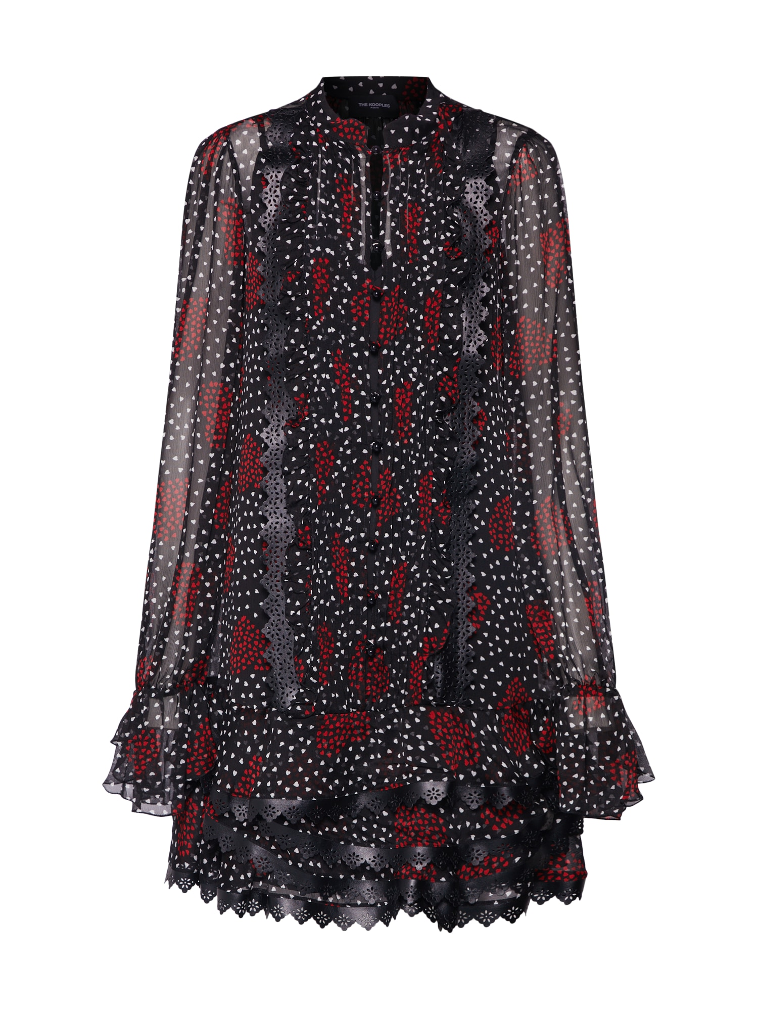 Letní šaty FROB18003K červená černá The Kooples