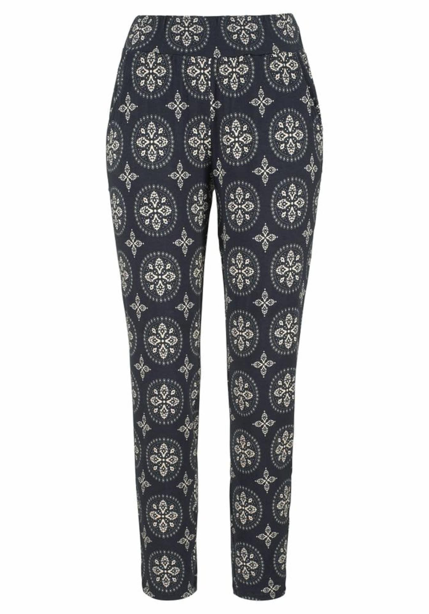 Harémové kalhoty béžová antracitová LASCANA
