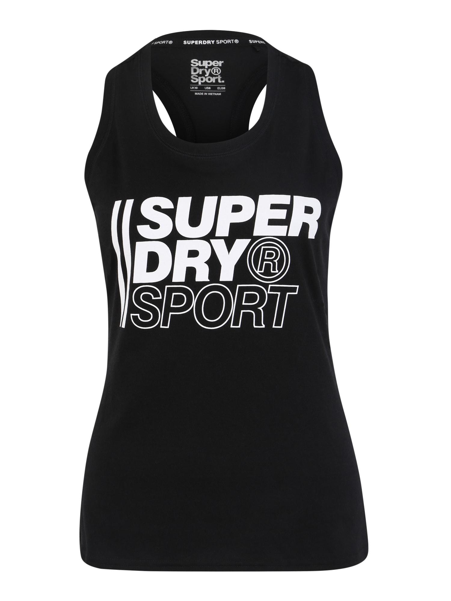 Sportovní top černá bílá Superdry