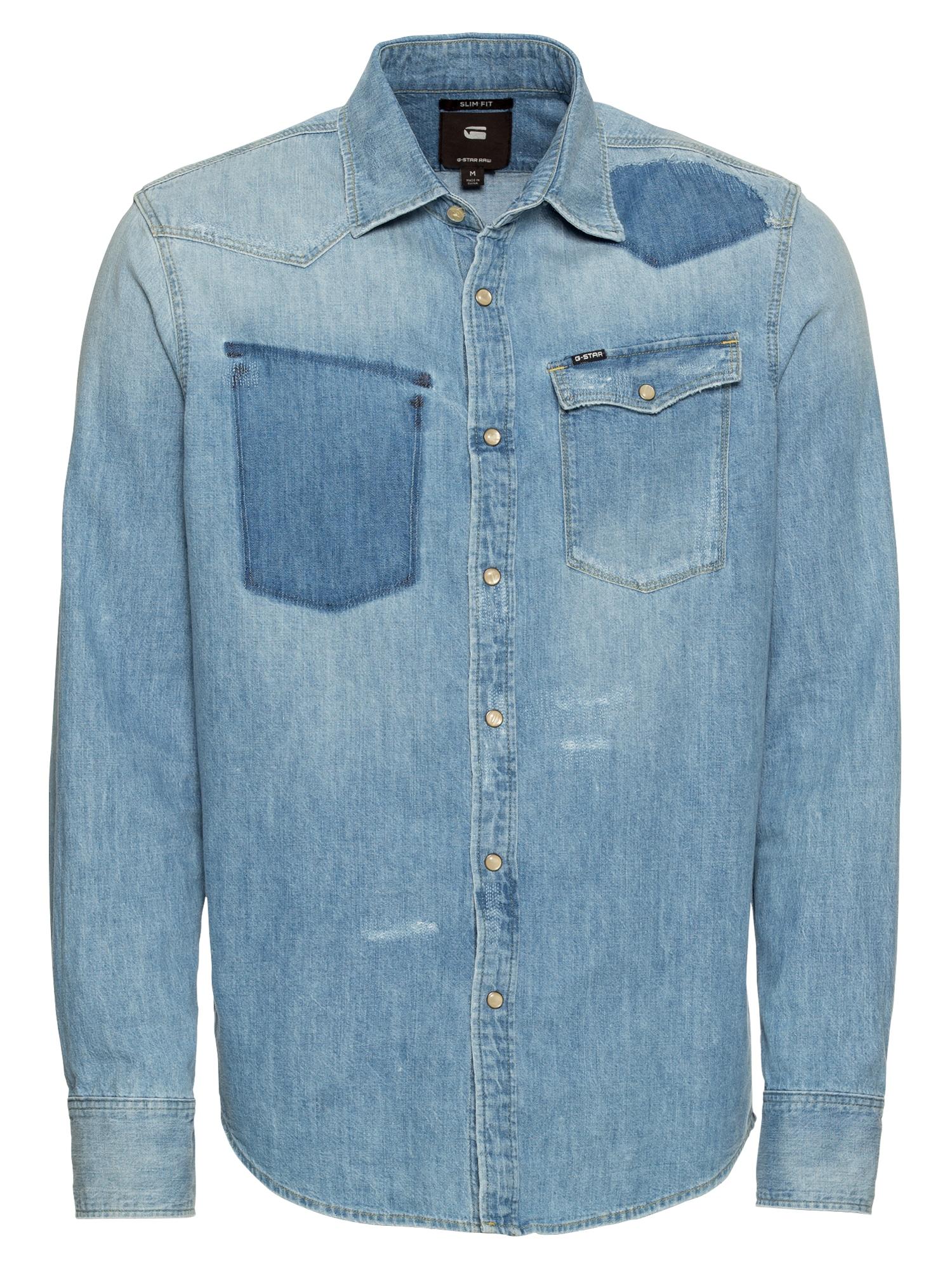Košile 3301 slim shirt ls modrá džínovina G-STAR RAW
