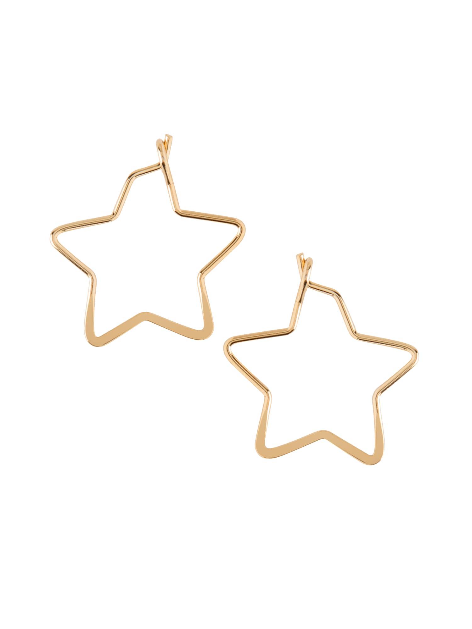 Náušnice small star hoop zlatá Orelia