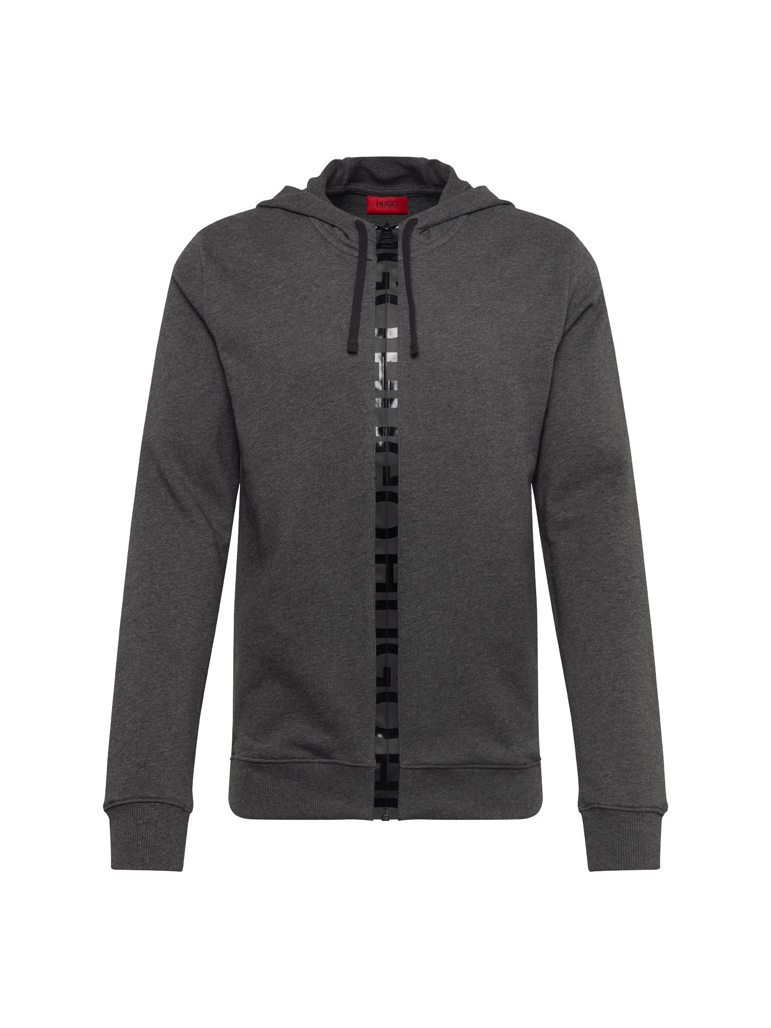 Mikina s kapucí Daple-U2 10187077 01 šedá HUGO