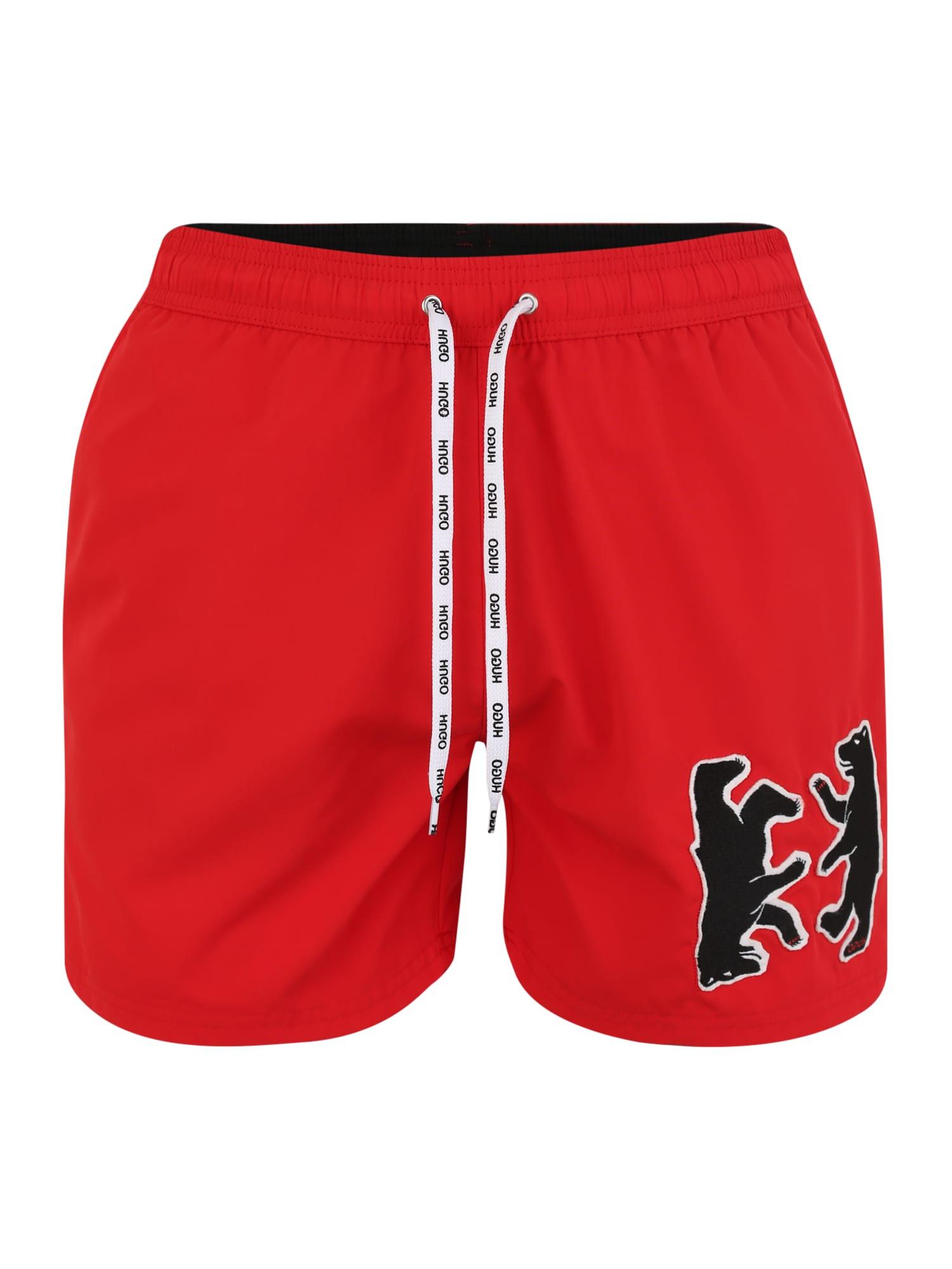 Plavecké šortky 50411887 červená HUGO