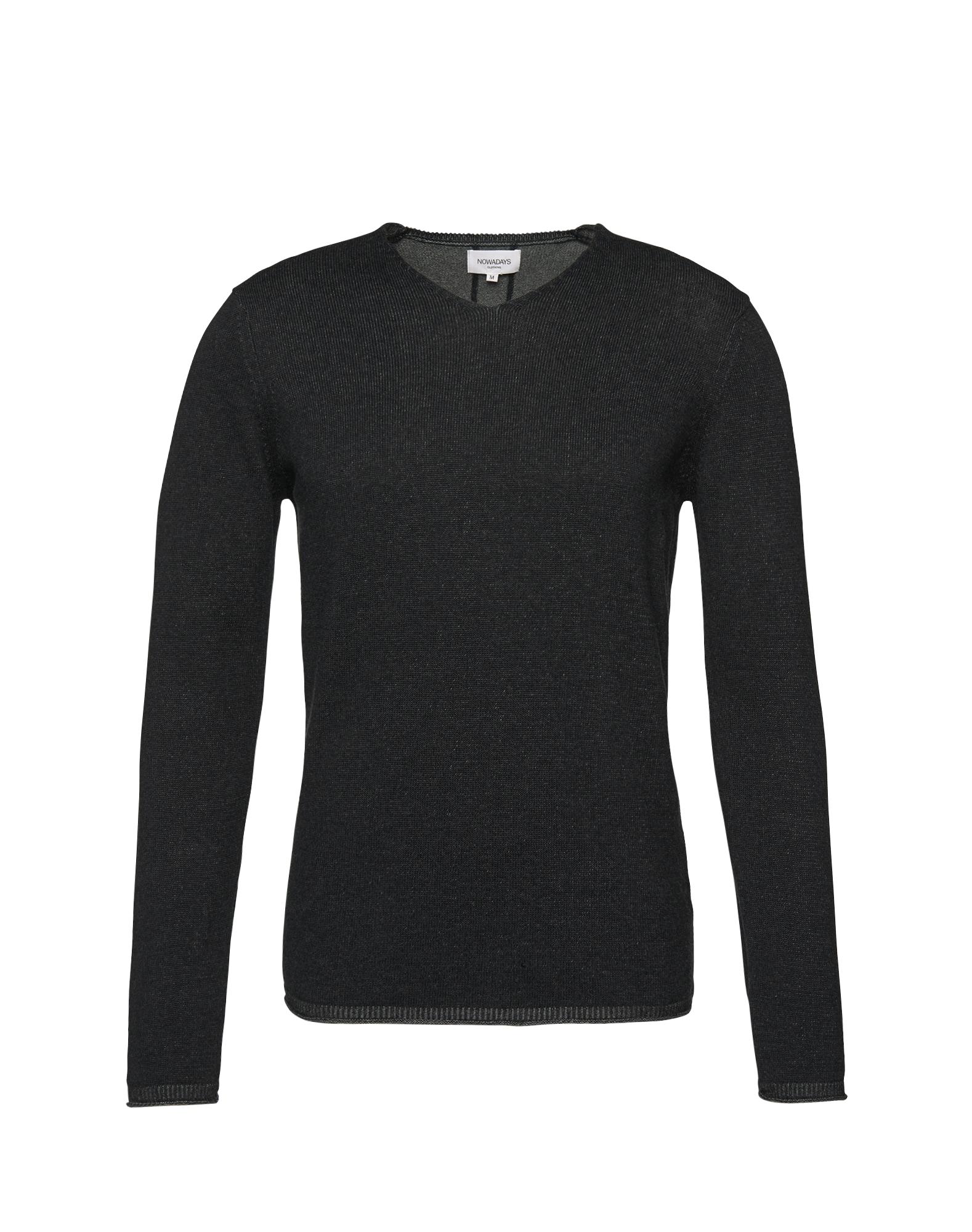 Svetr plated Pullover 9gg černá NOWADAYS