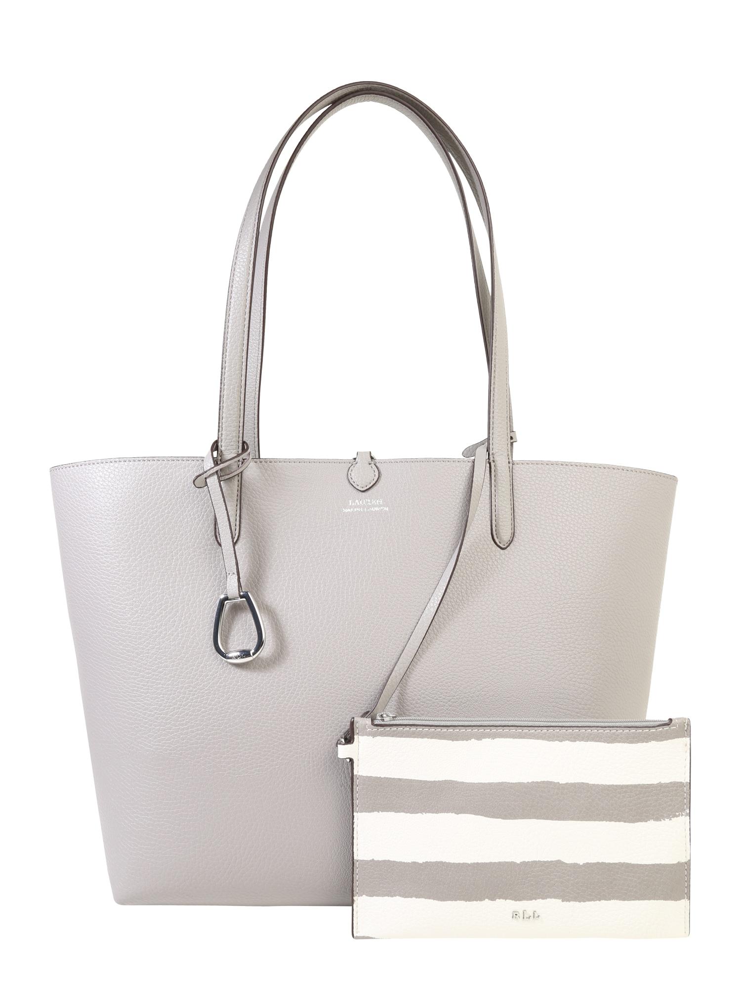 Nákupní taška RVRSBLE TOTE-TOTE světle šedá Lauren Ralph Lauren
