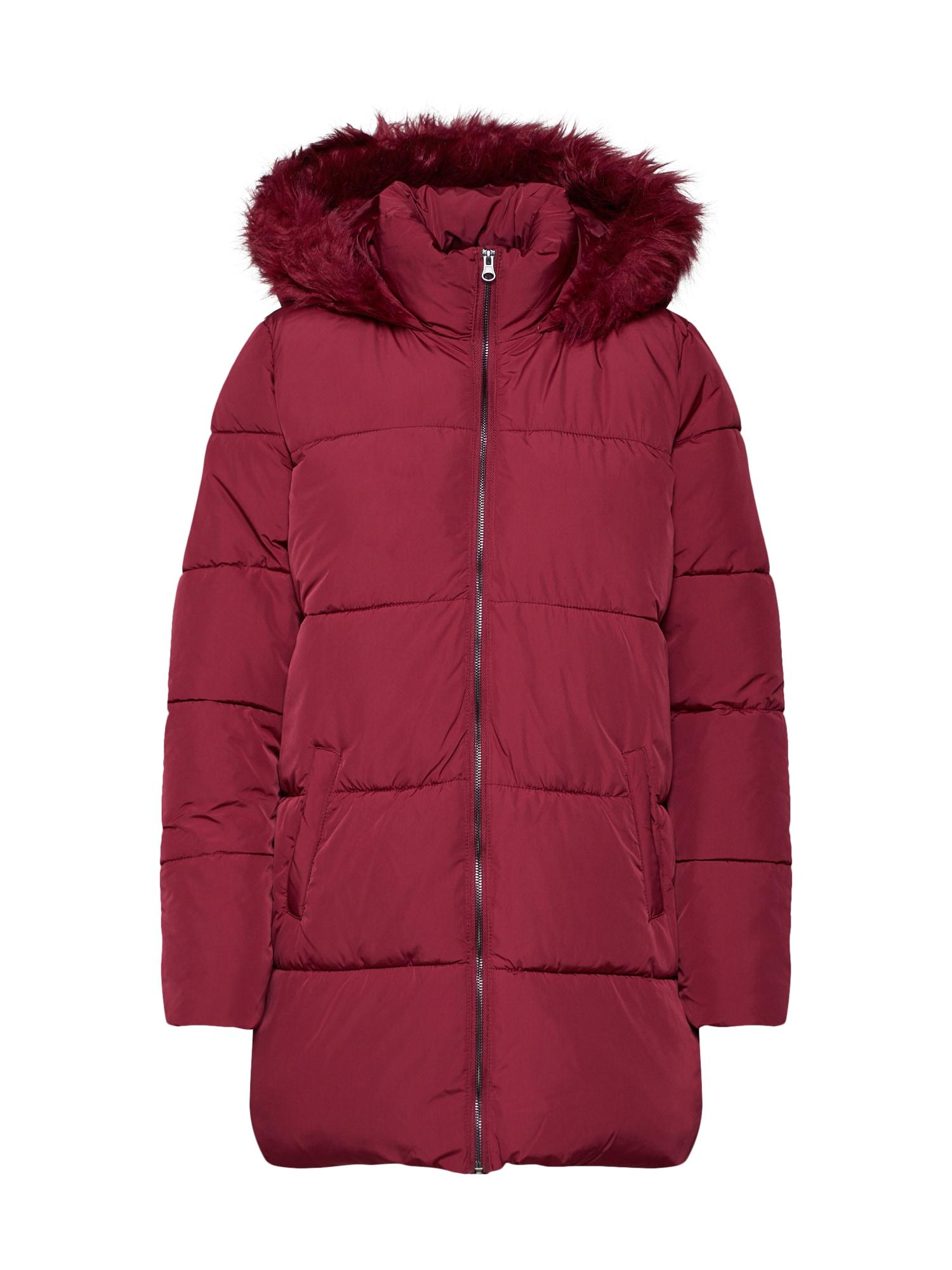 Zimní kabát ELMA malinová JACQUELINE De YONG