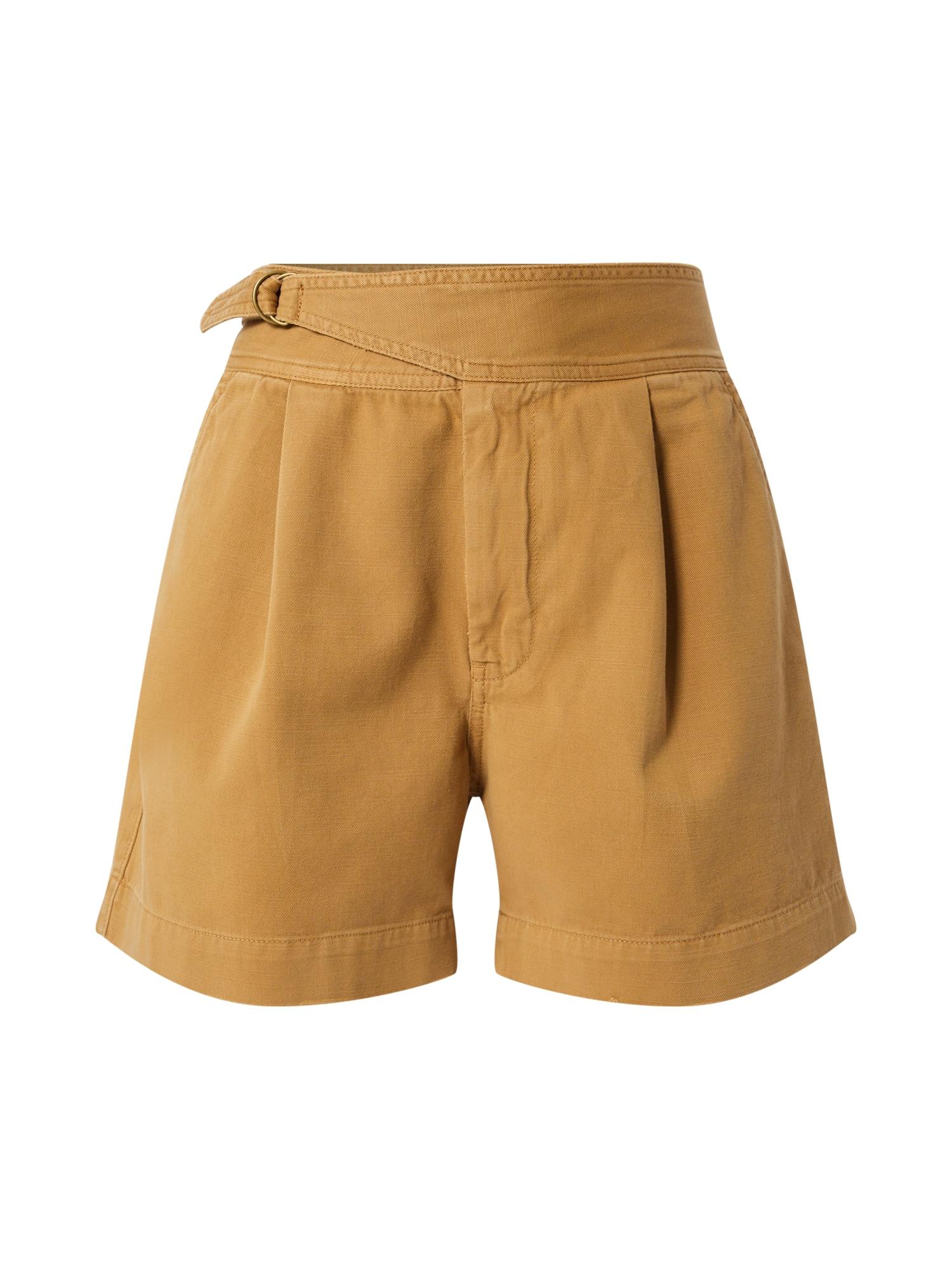 Kalhoty ELRA béžová světle hnědá POLO RALPH LAUREN
