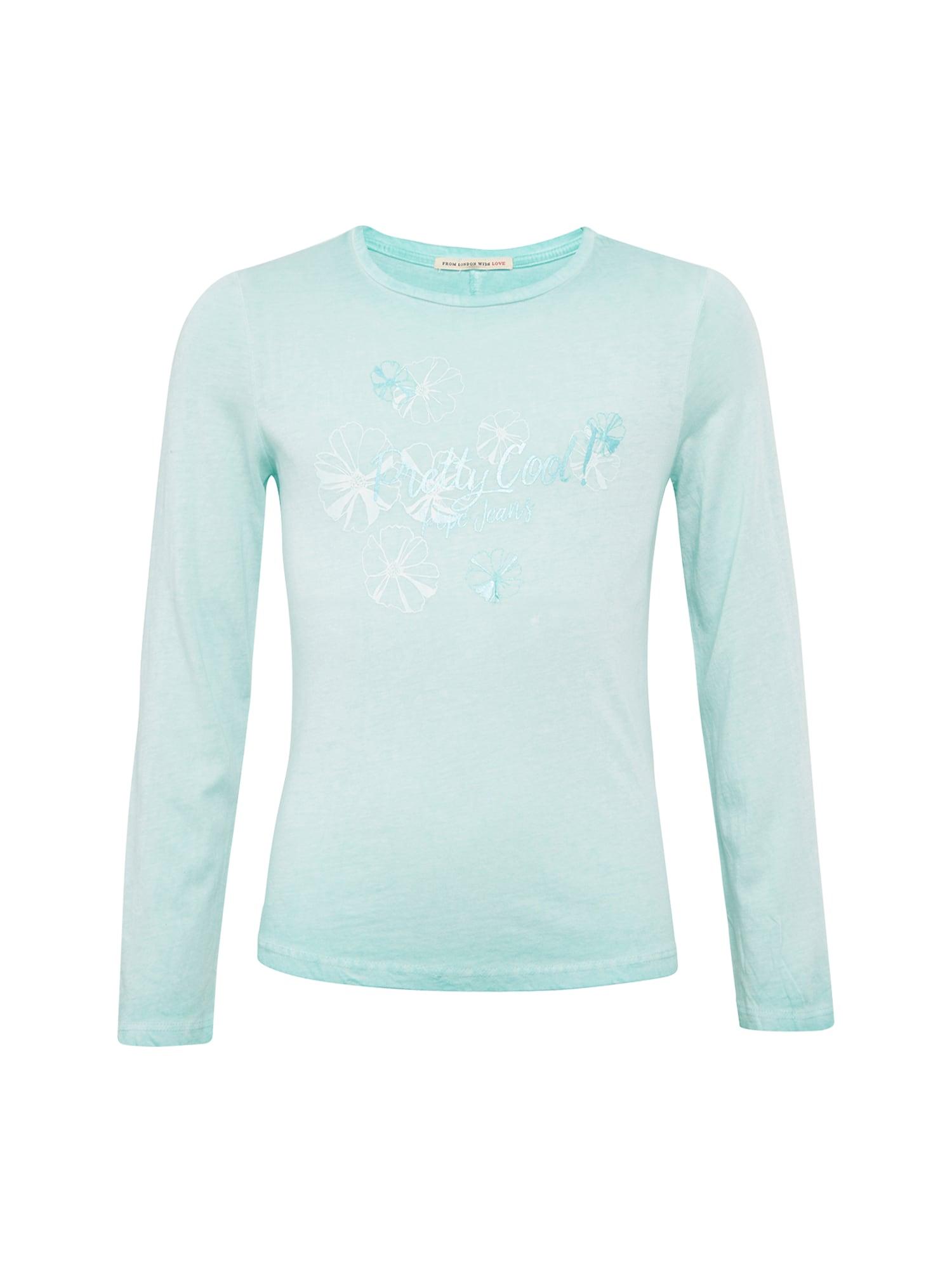Pepe Jeans Meisjes Shirt ADALIN JR turquoise parelwit