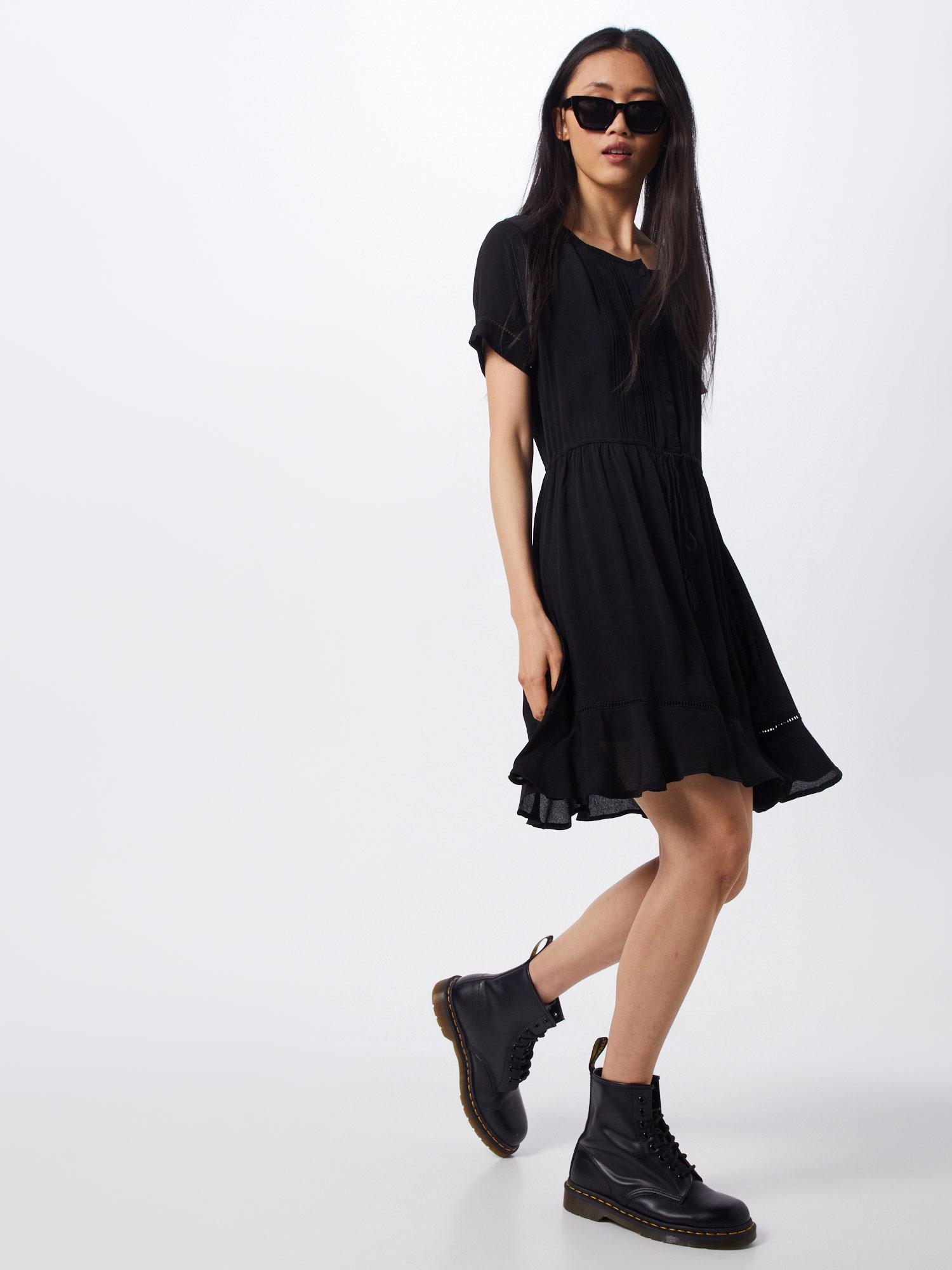 ICHI Košeľové šaty 'FERNANDA DR'  čierna