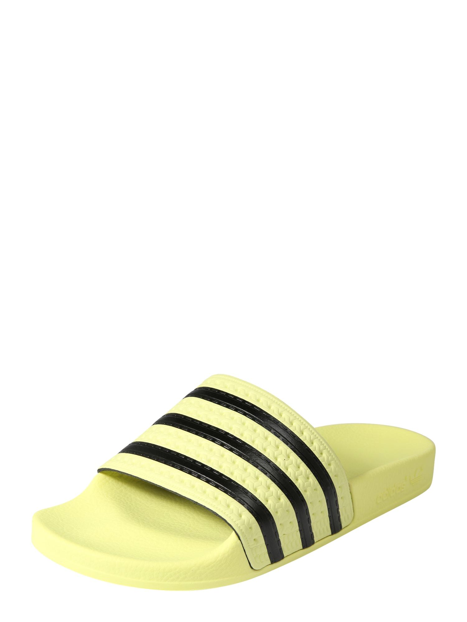 Plážovákoupací obuv pastelově žlutá černá ADIDAS ORIGINALS