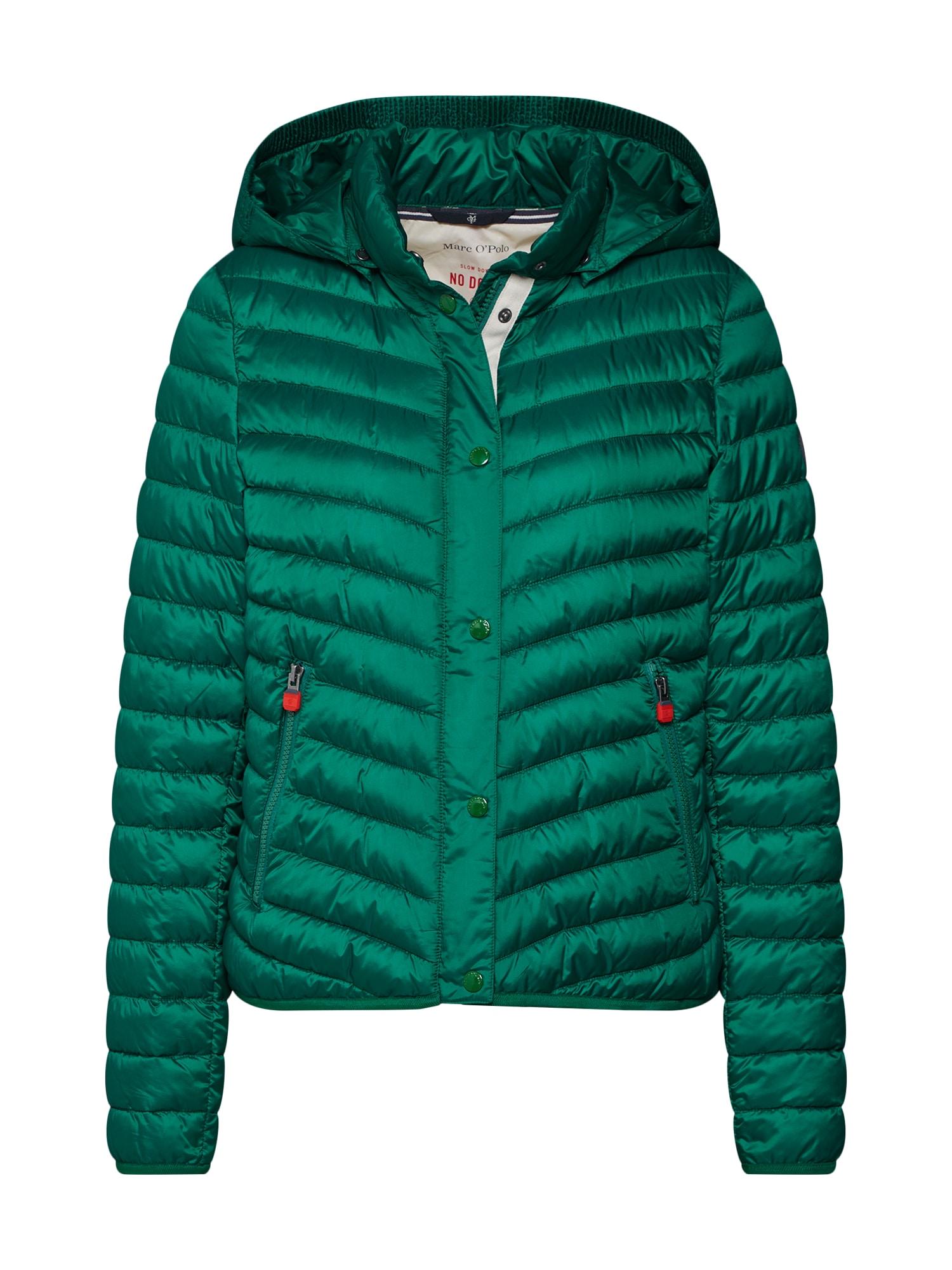 Marc OPolo Zimní bunda WOVEN OUTDOOR JACKETS tmavě zelená Marc O'Polo