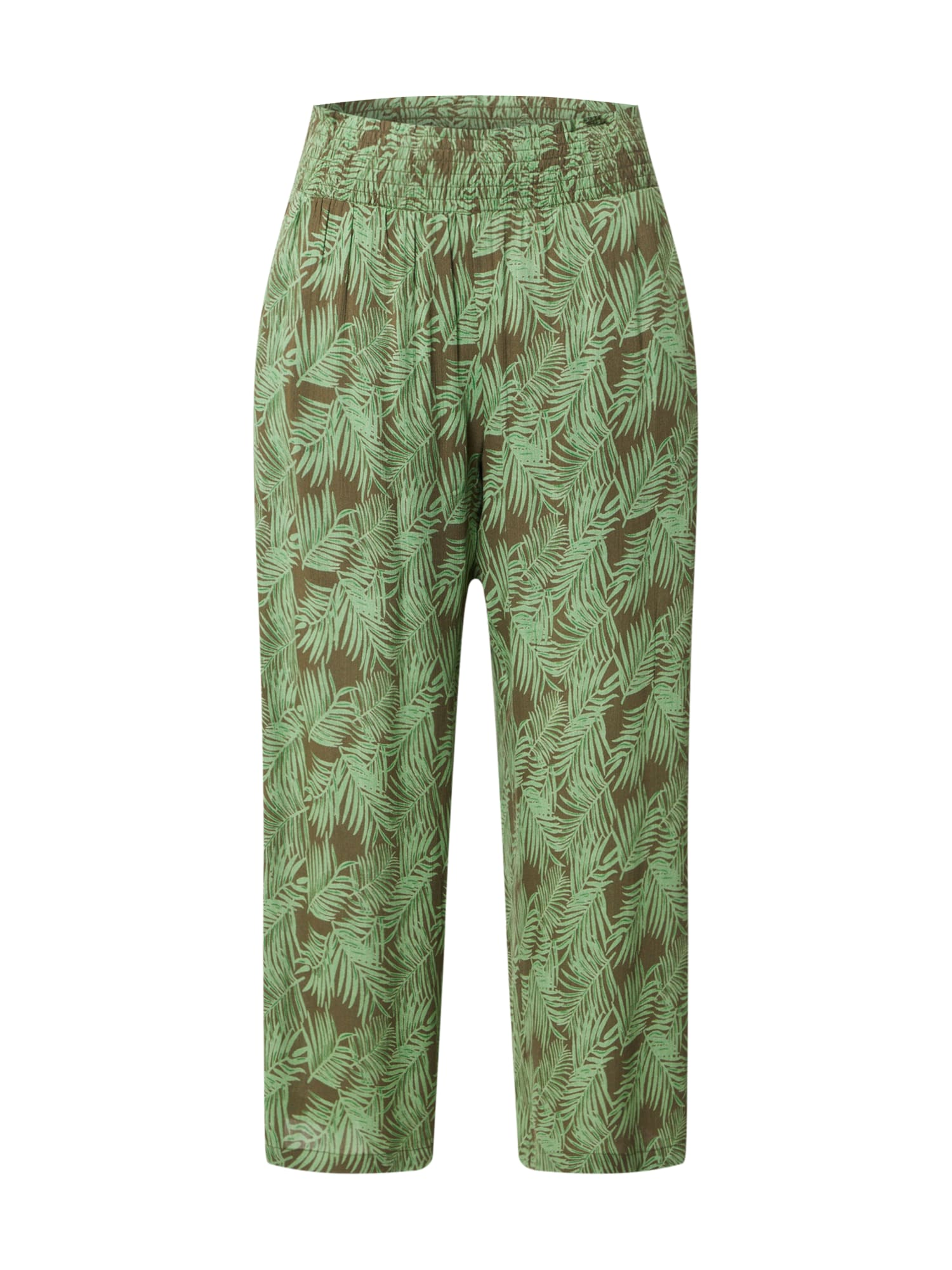 Noisy May Kalhoty 'NMFLORA'  zelená / pink / bílá