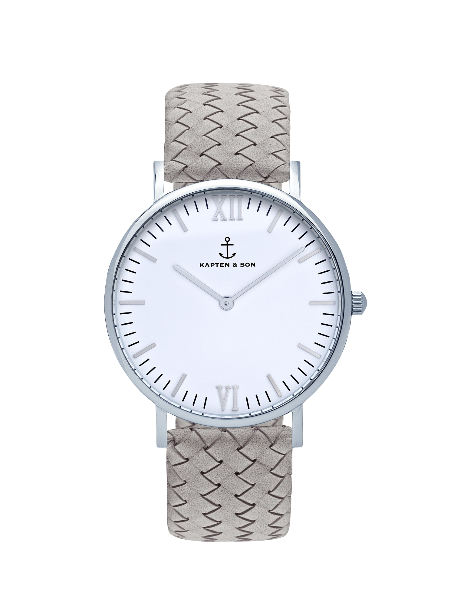 Analogové hodinky Campina šedá stříbrná Kapten & Son
