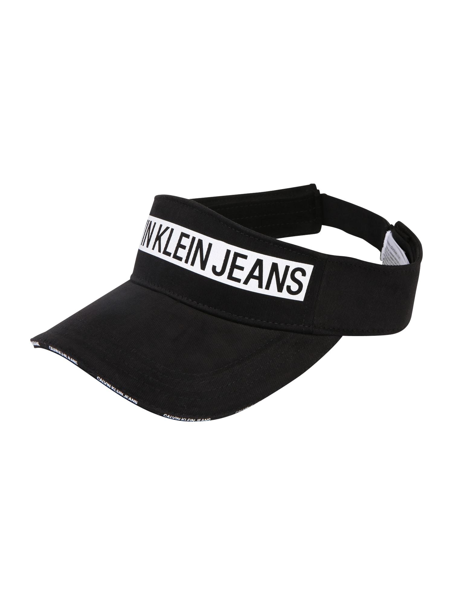 Čepice J LOGO TAPE VISOR W černá Calvin Klein