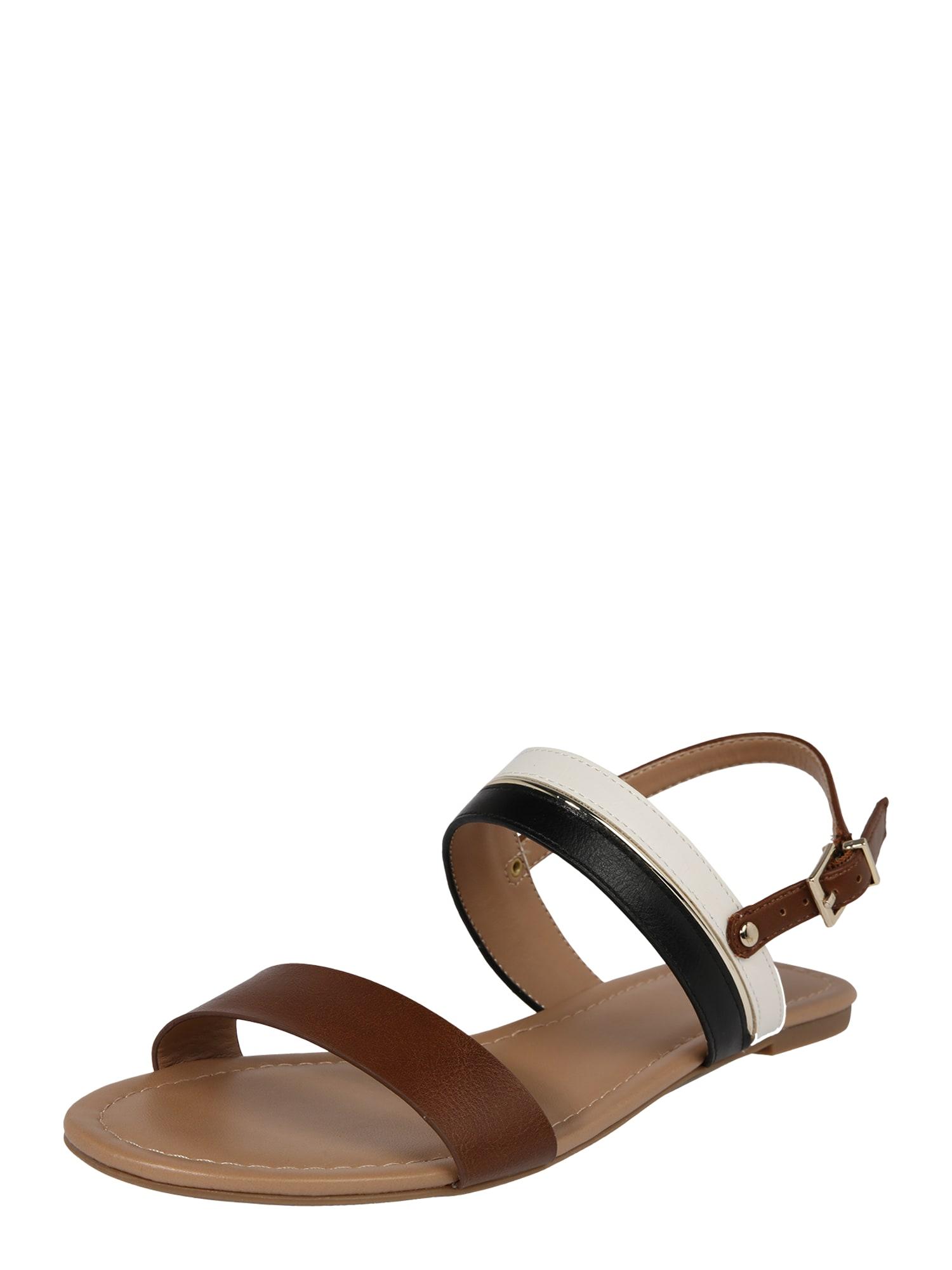 Páskové sandály VIPAVA koňaková černá bílá CALL IT SPRING