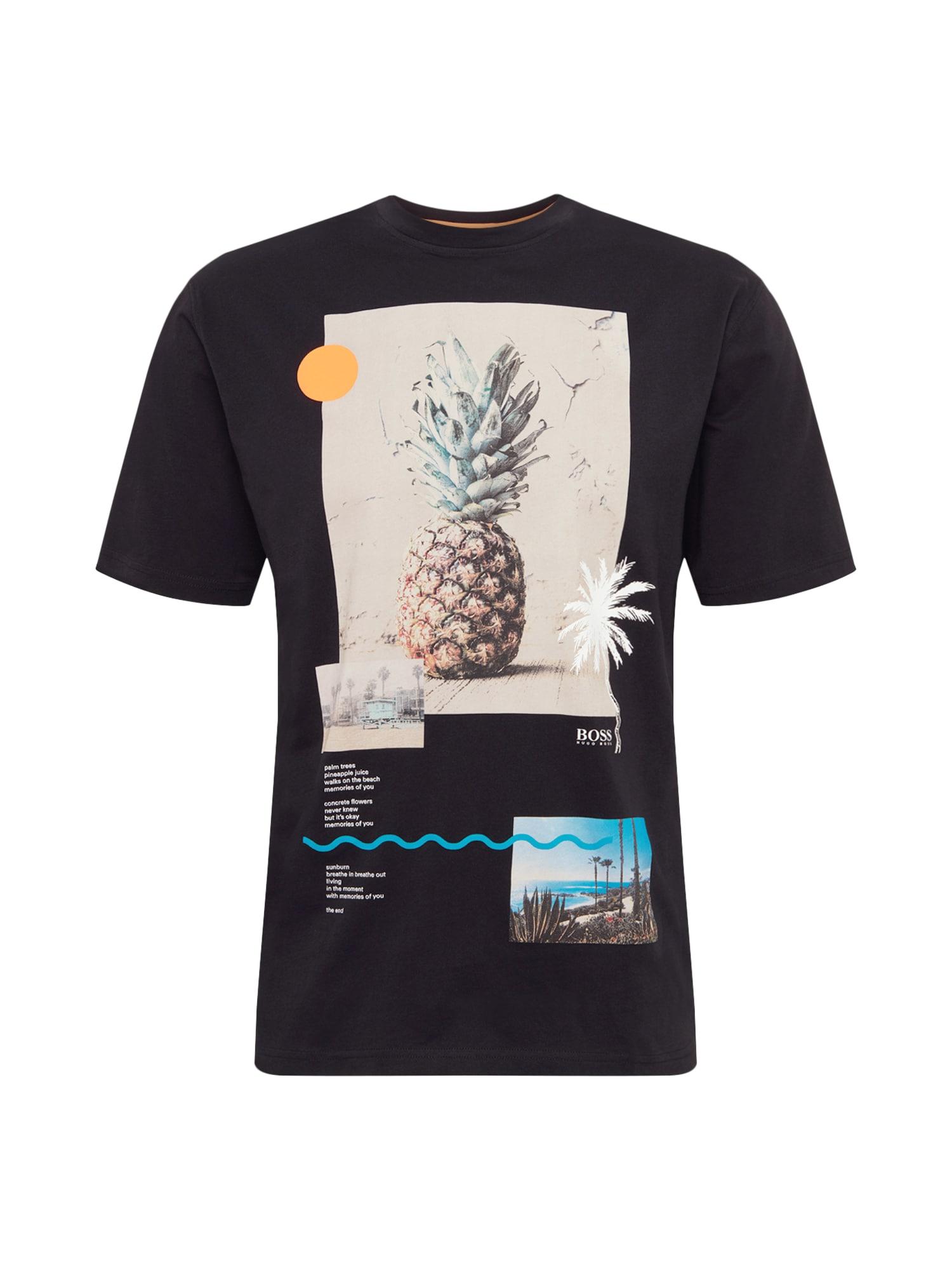 Tričko Teecher 3 10131643 01 krémová černá BOSS