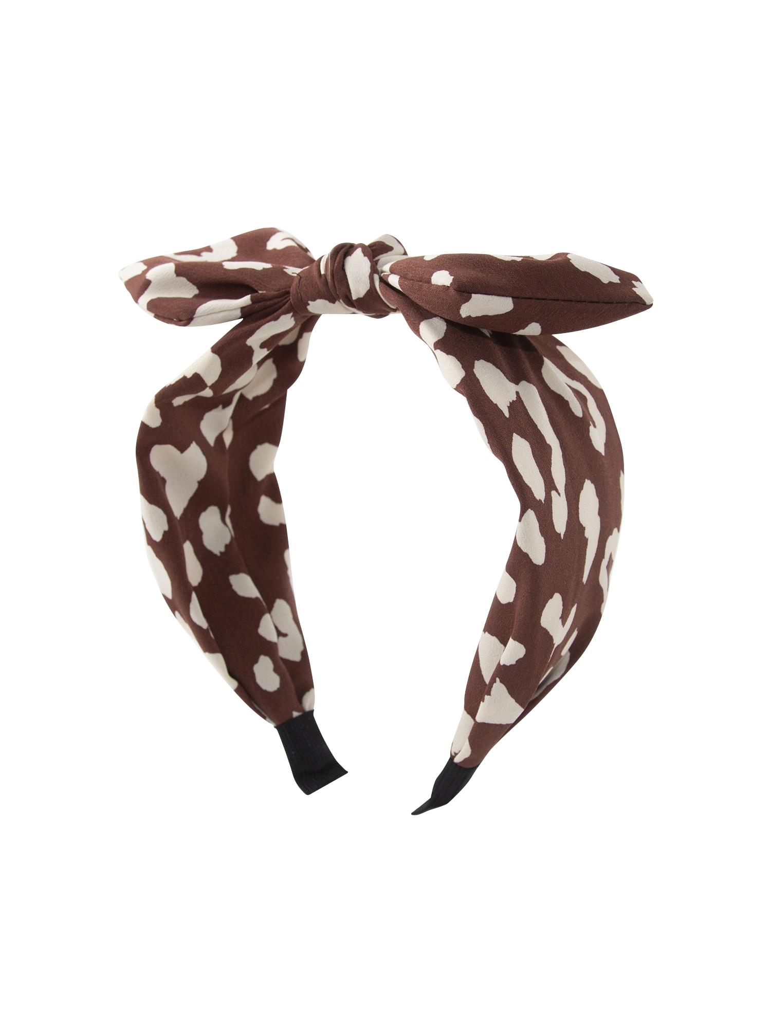 Šperky do vlasů tan animal headband béžová hnědá Orelia