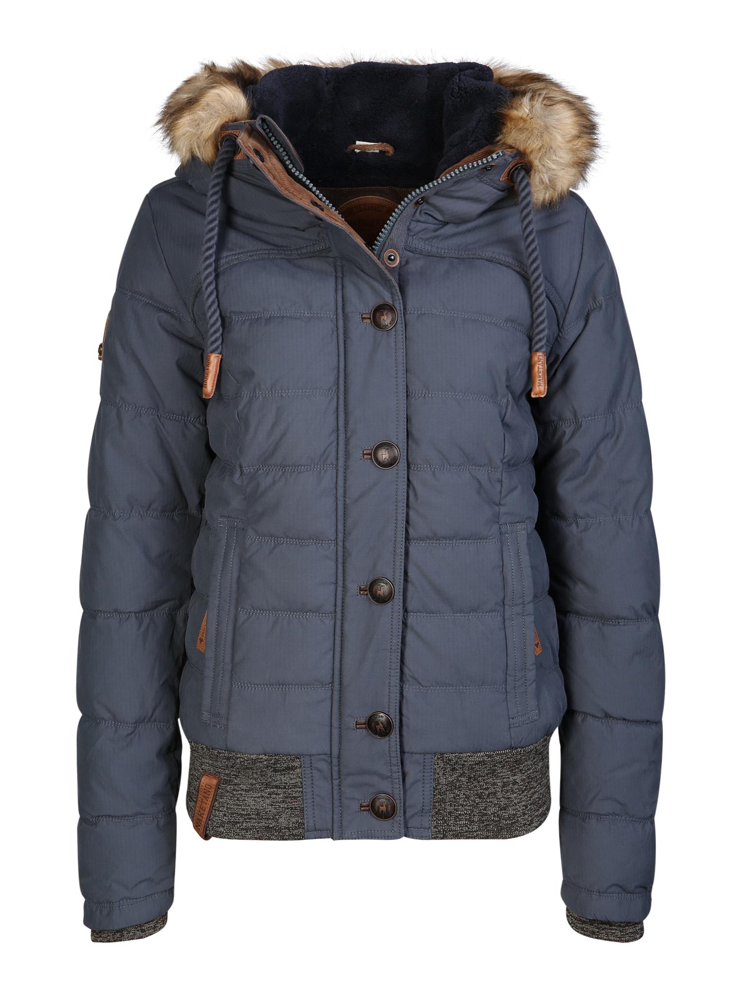 Zimní bunda chladná modrá Naketano