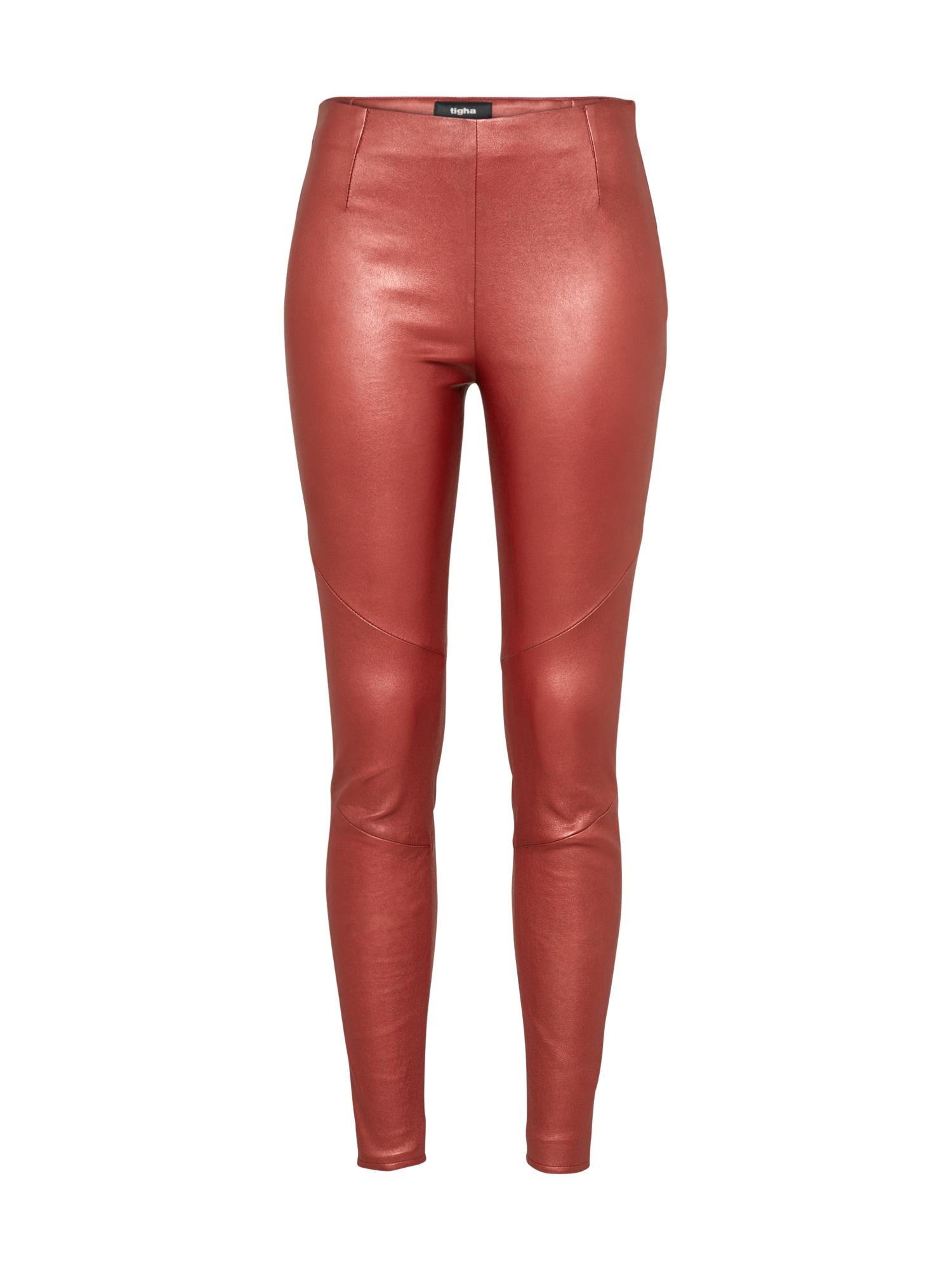 Kalhoty Nori pastelově červená Tigha