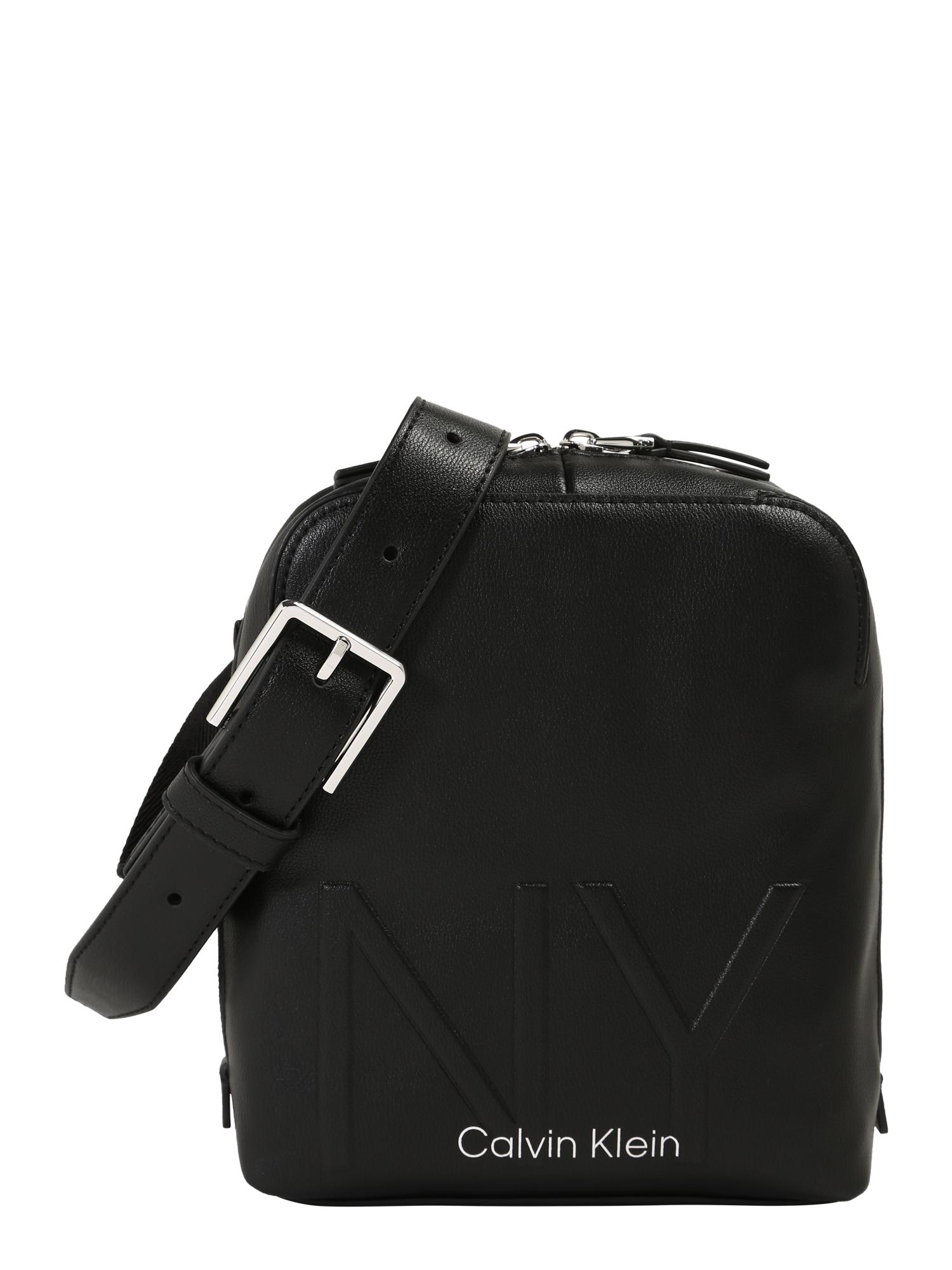 Calvin Klein Taška přes rameno 'NY SHAPED CVRTBL MINI REPORTER'  černá