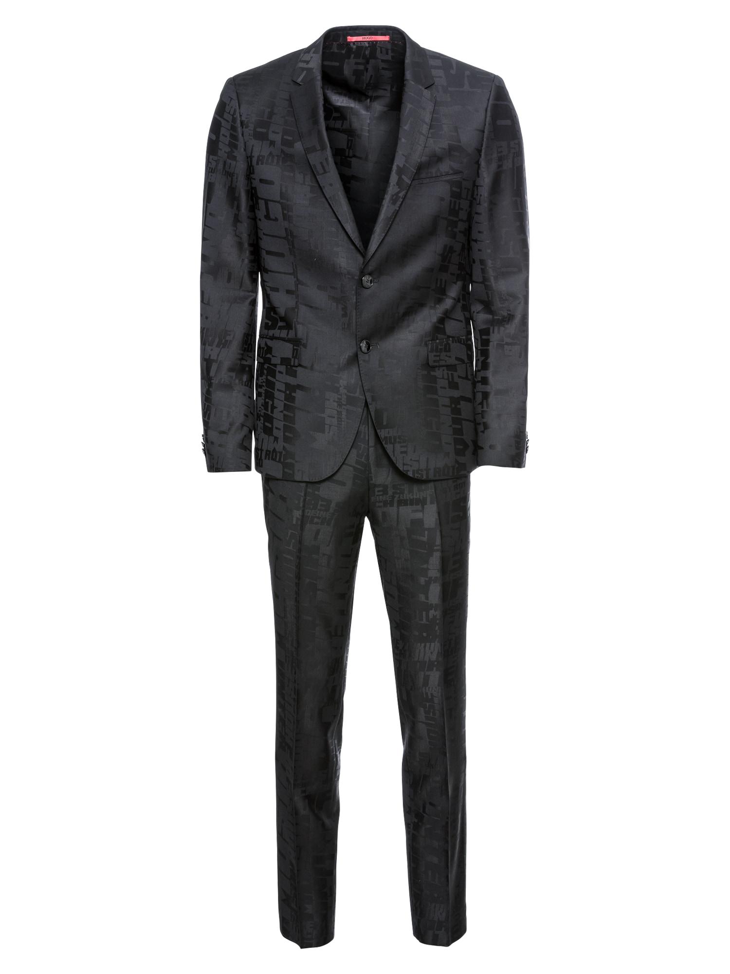 Oblek ArtiHesten182 černá HUGO