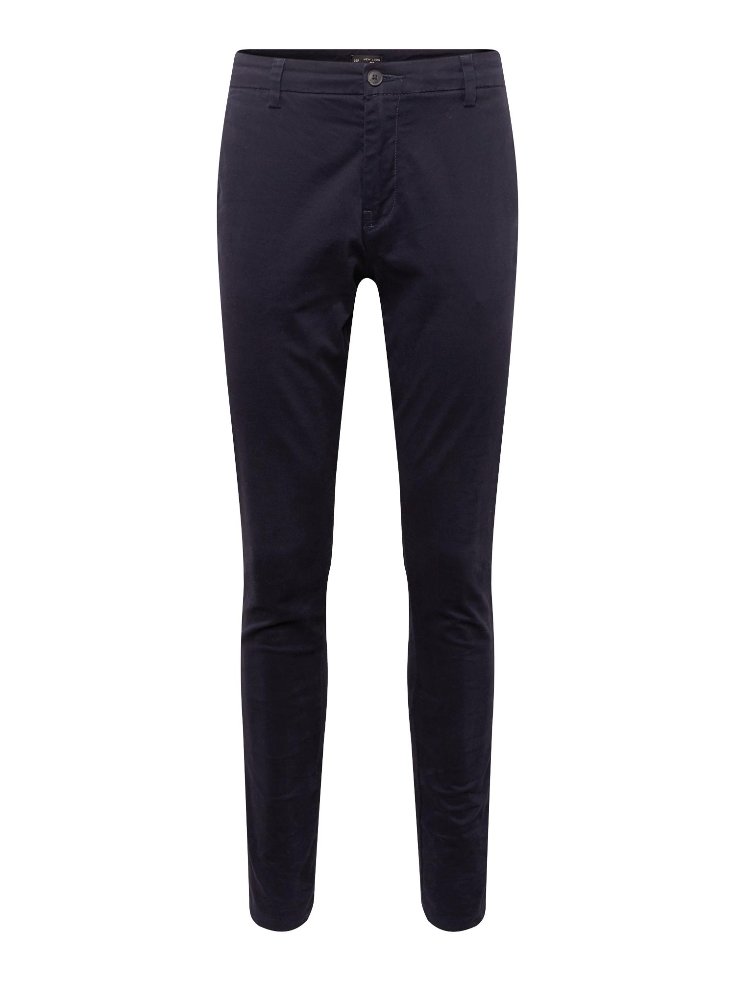 Chino kalhoty STRETCH SKINNY CHINO námořnická modř NEW LOOK
