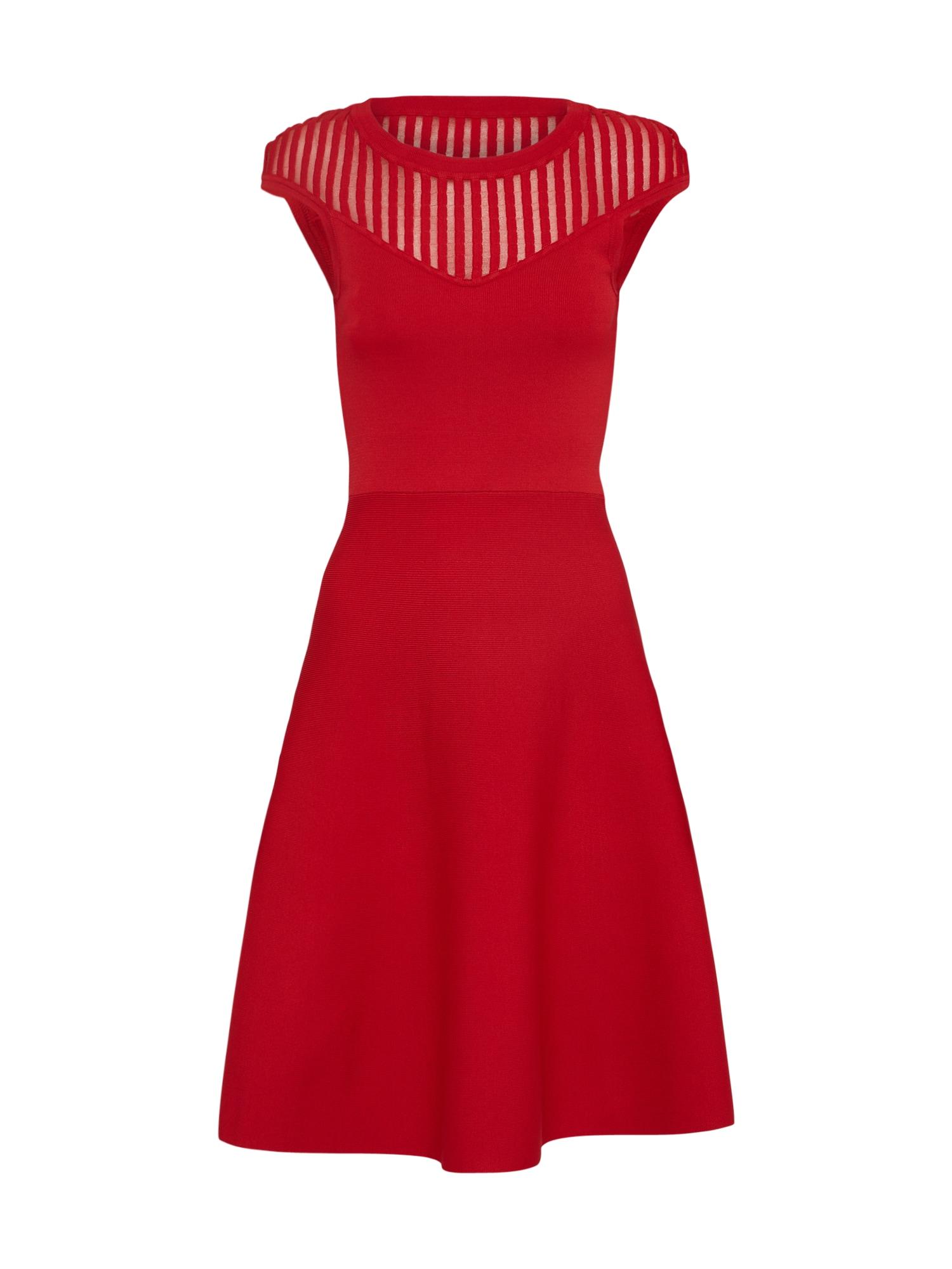 FRENCH CONNECTION Sukienka koktajlowa 'Rose Crepe Knit'  ognisto-czerwony