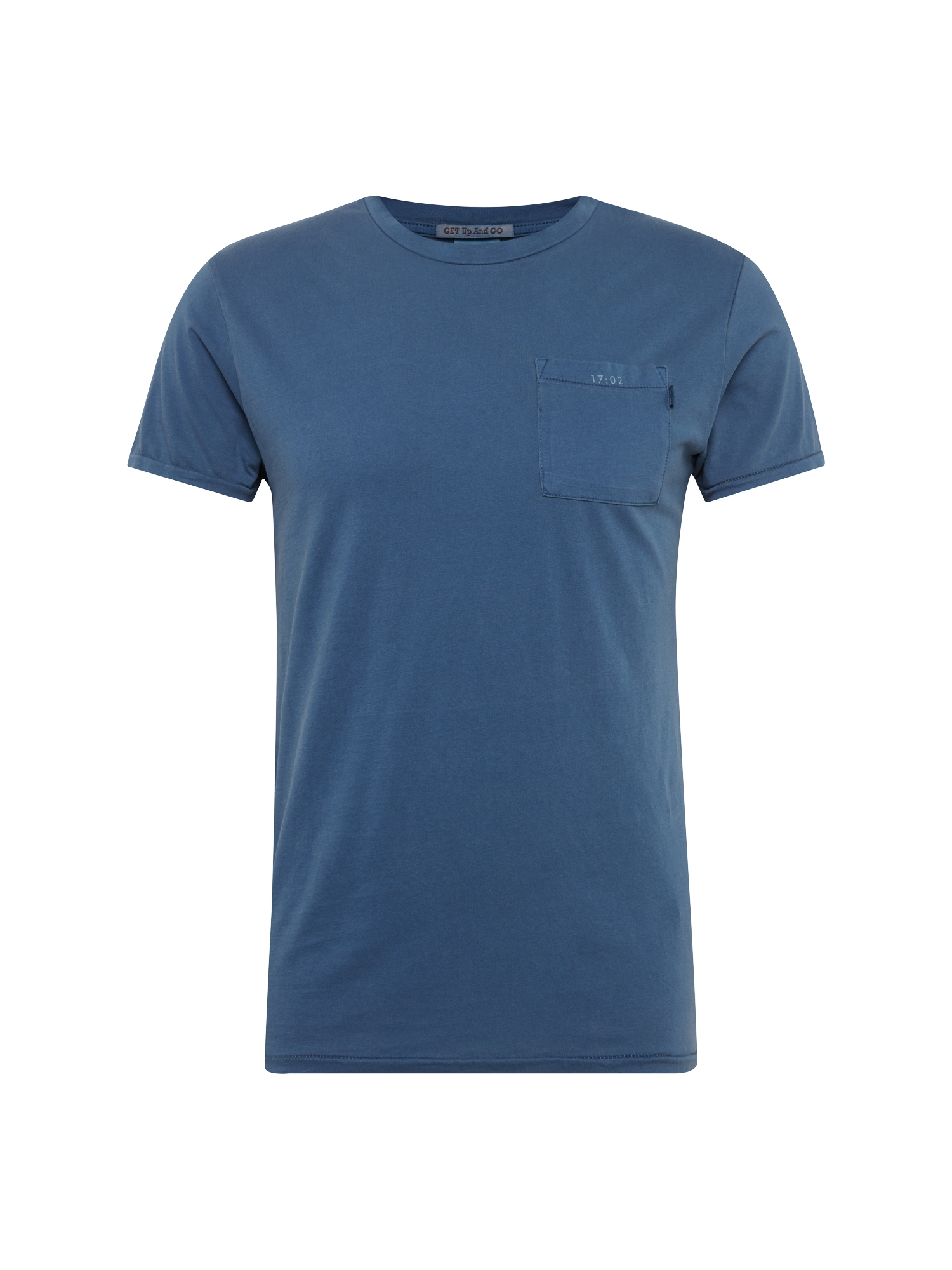 SCOTCH  and  SODA Heren Shirt Garment-dyed tee with chest pocket blauw