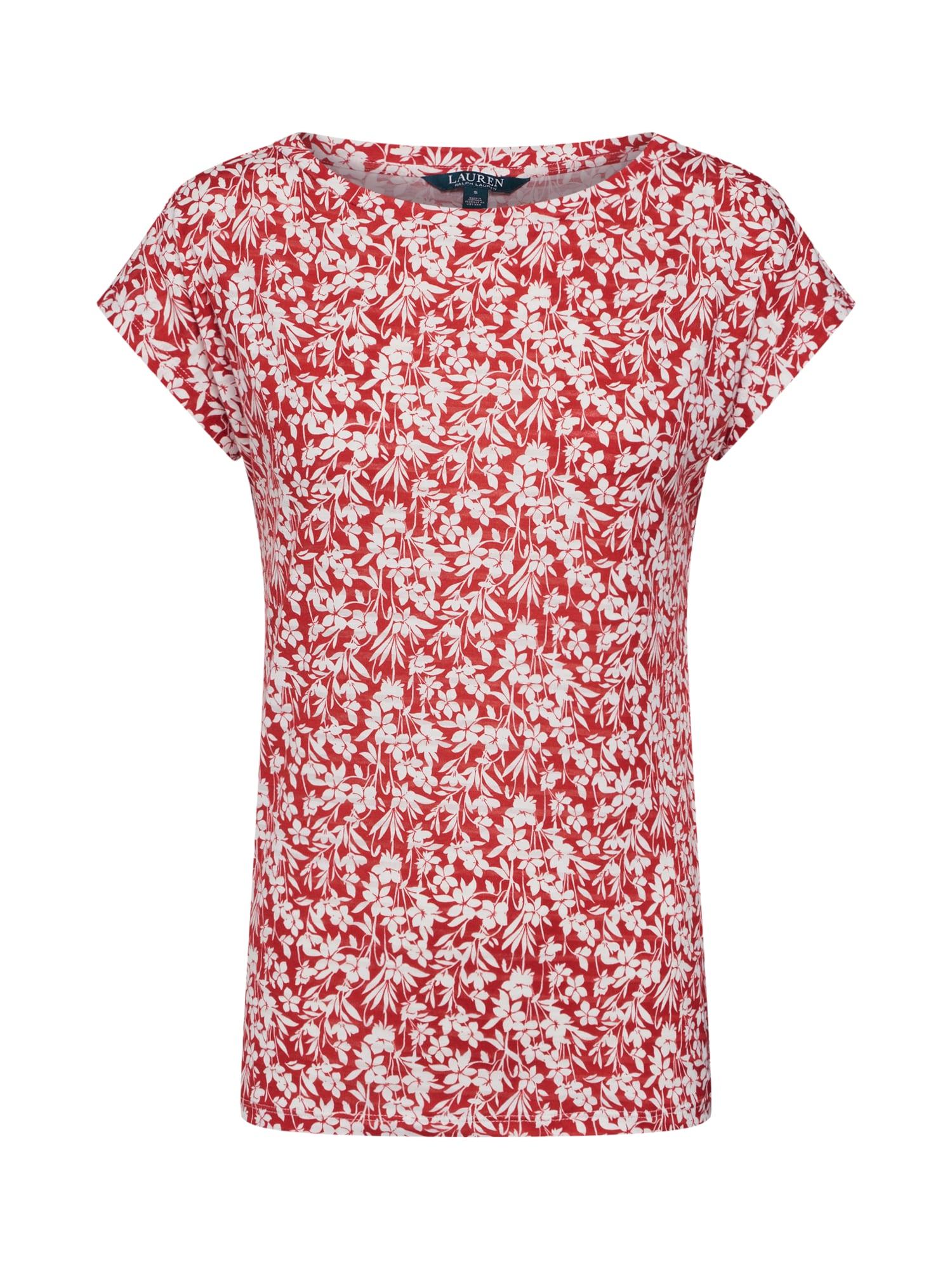 Tričko GRIETA červená bílá Lauren Ralph Lauren