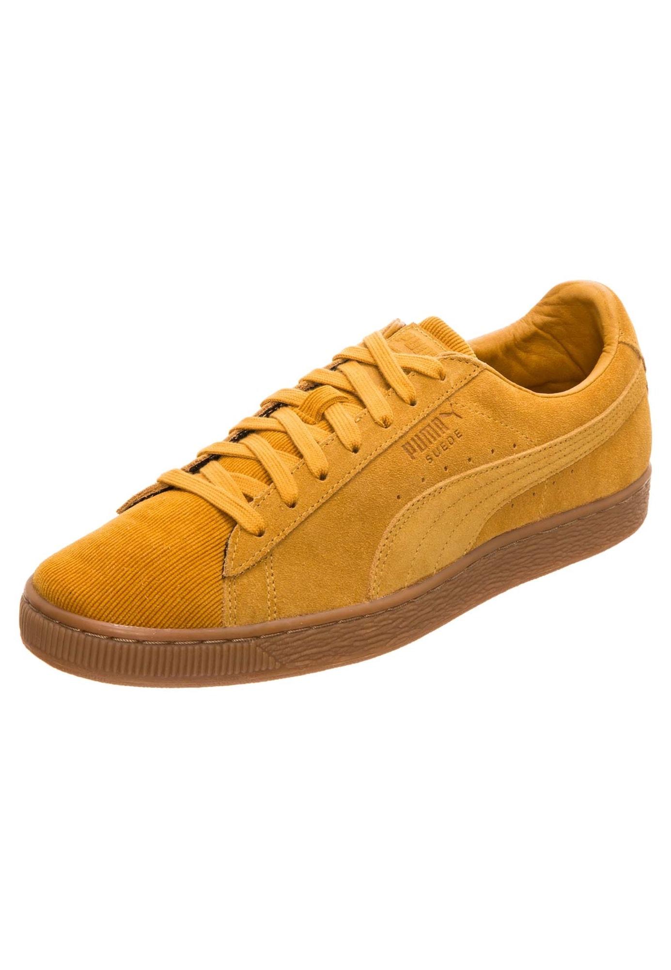 PUMA, Heren Sneakers laag 'Suede', goudgeel